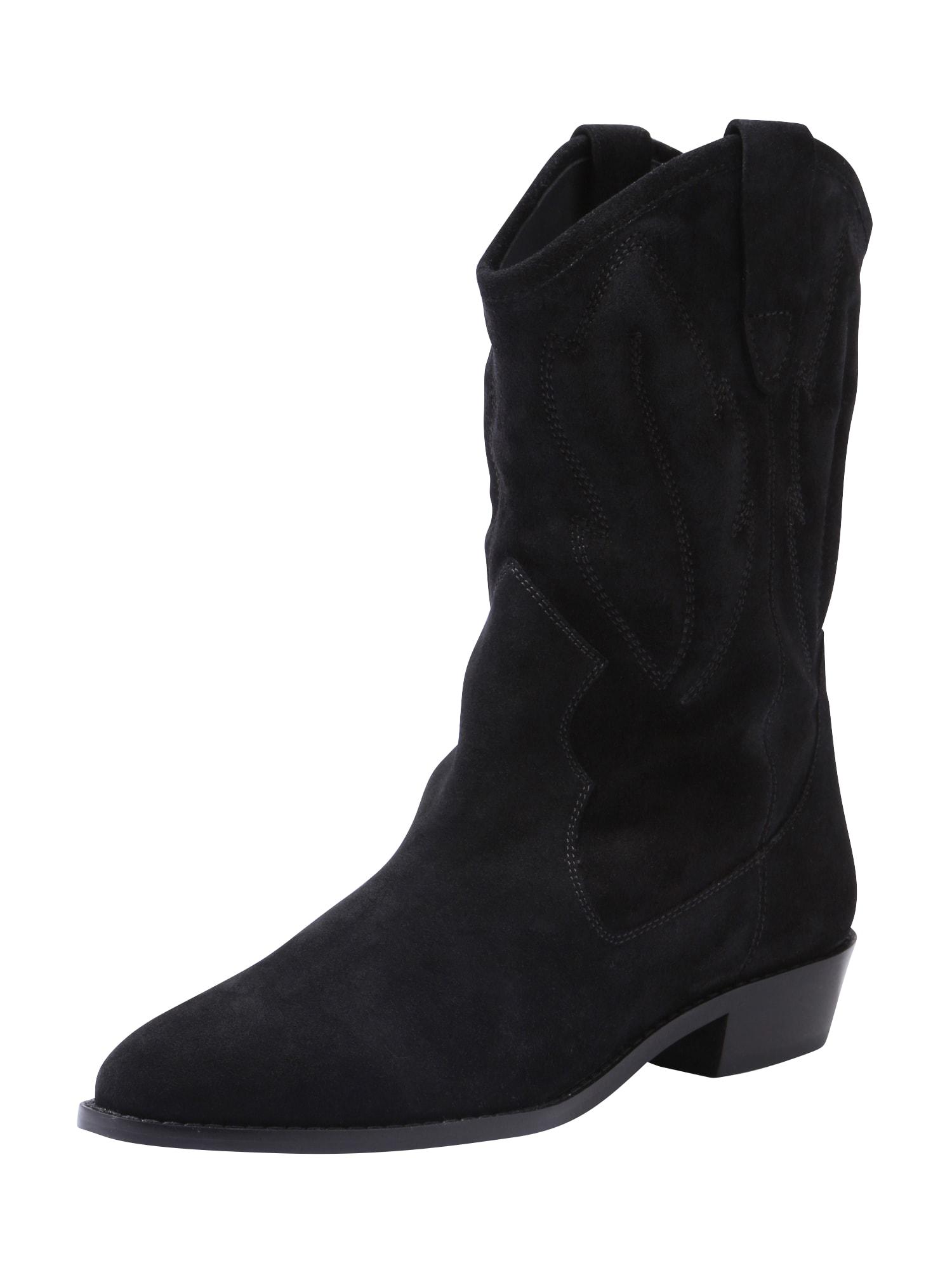 Kovbojské boty ENIZ černá ABOUT YOU