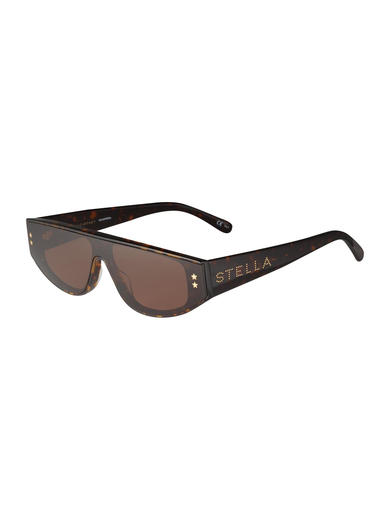 Stella McCartney Sluneční brýle  zlatá / tmavě hnědá / zelená
