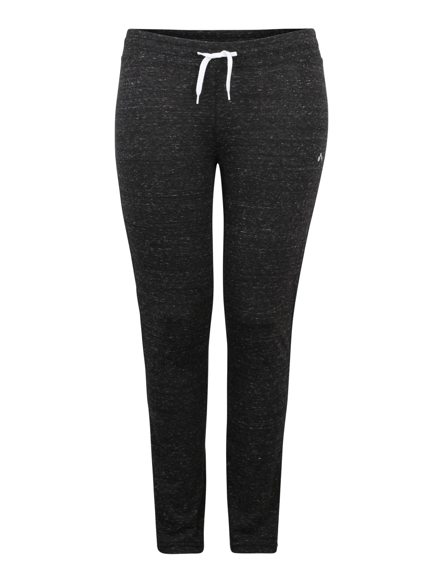 Sportovní kalhoty onpHANA SWEAT PANTS CURVY černá Only Play Curvy