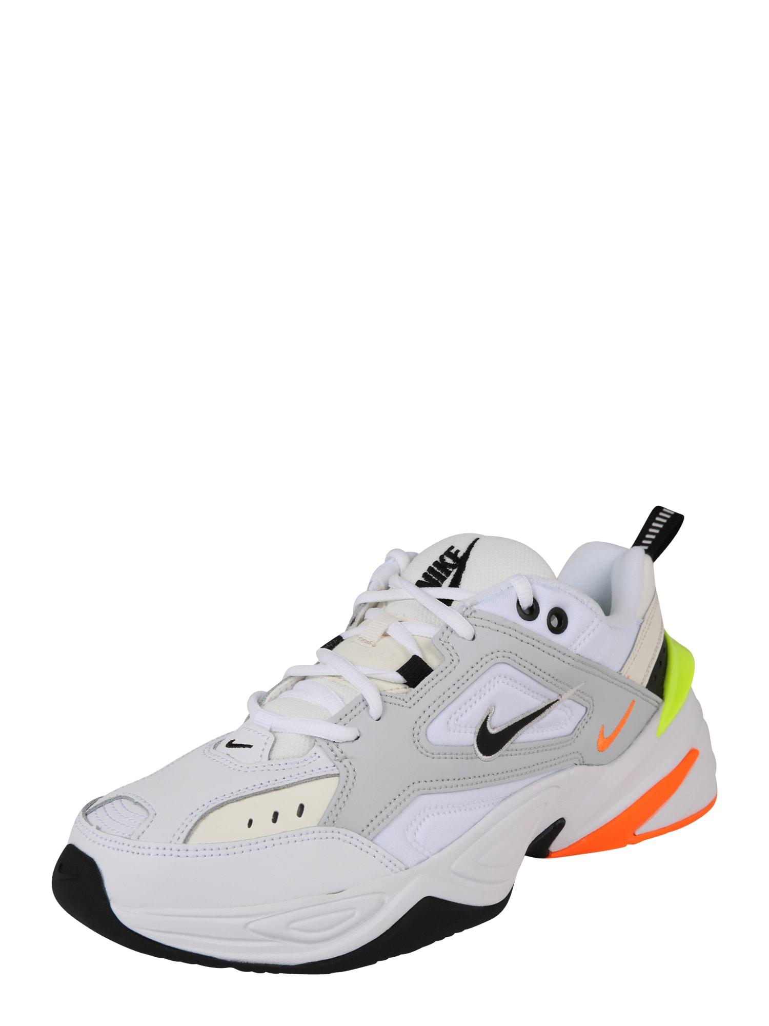 Nike Sportswear, Heren Sneakers laag 'M2K Tekno', neongeel / neonoranje / wit