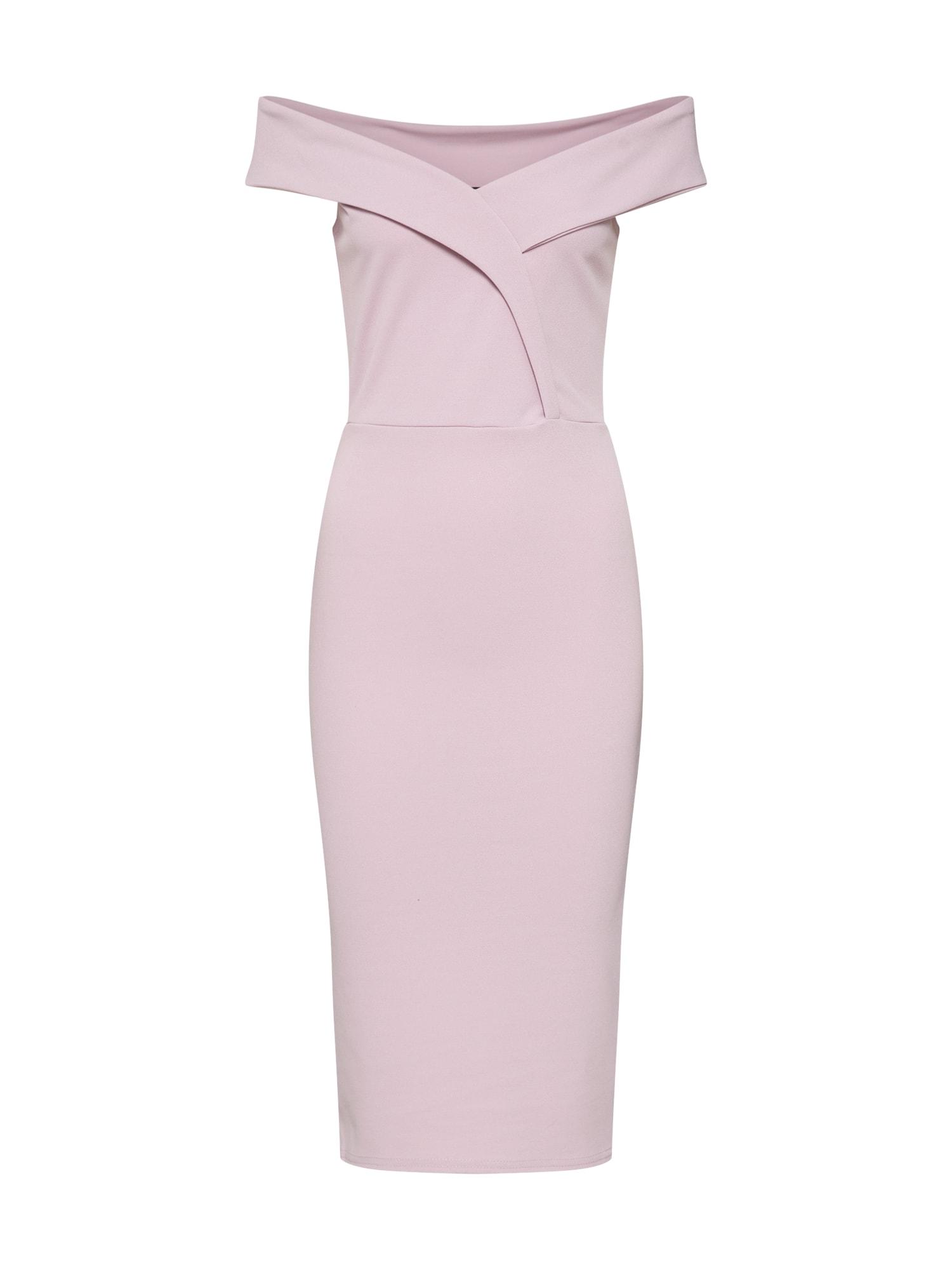 Pouzdrové šaty Bardot Midi lila Missguided
