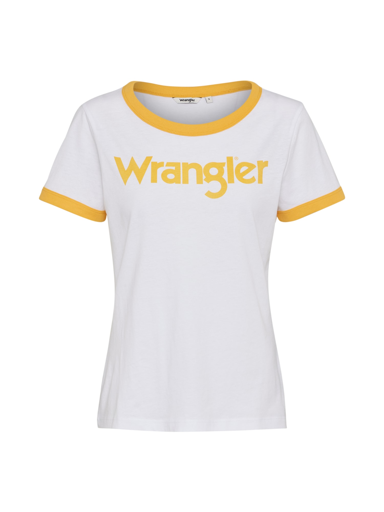 WRANGLER Dames Shirt RETRO KABEL goudgeel wit