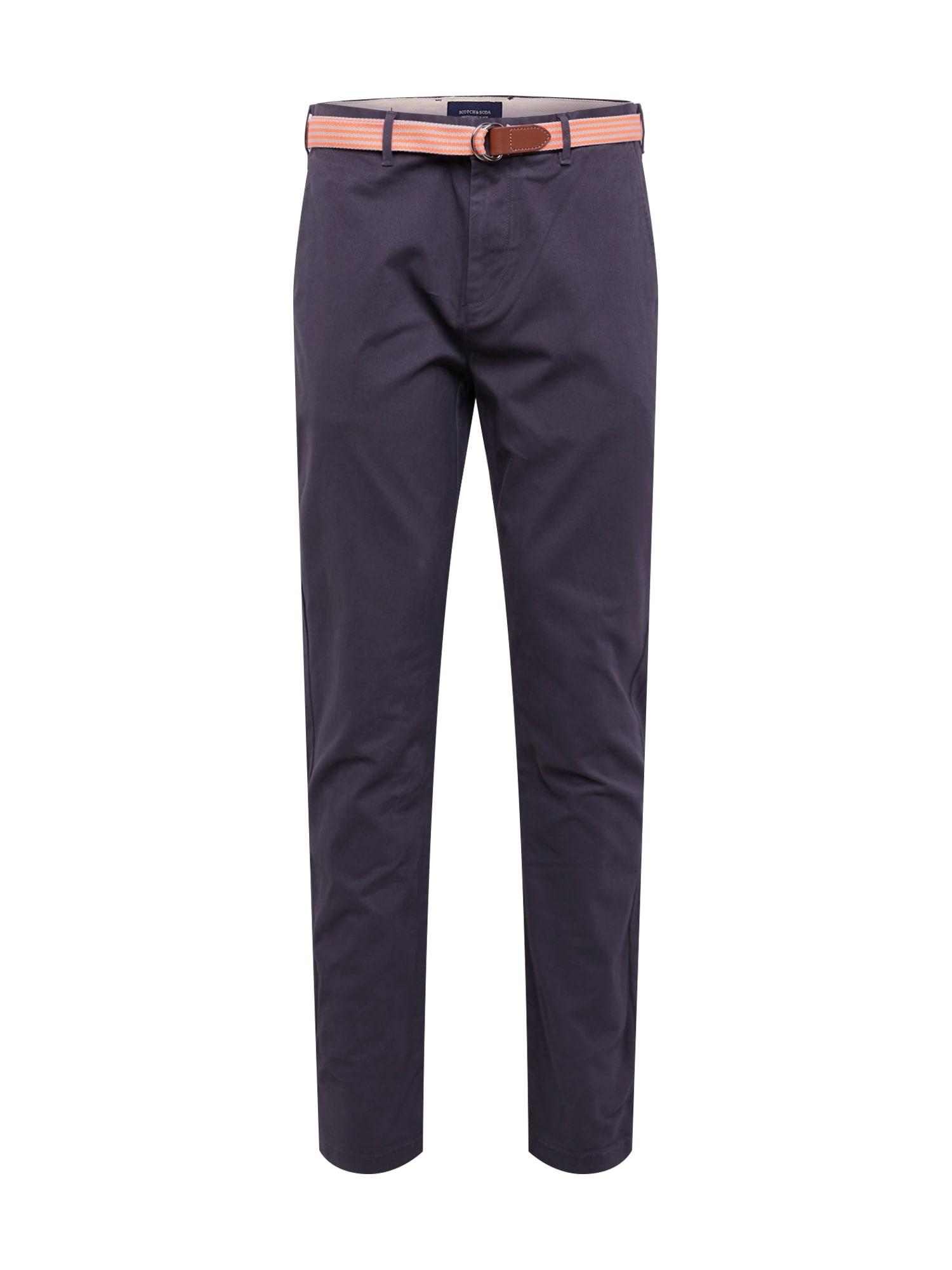 SCOTCH & SODA Chino kalhoty 'Stretch Stuart with belt'  šedá