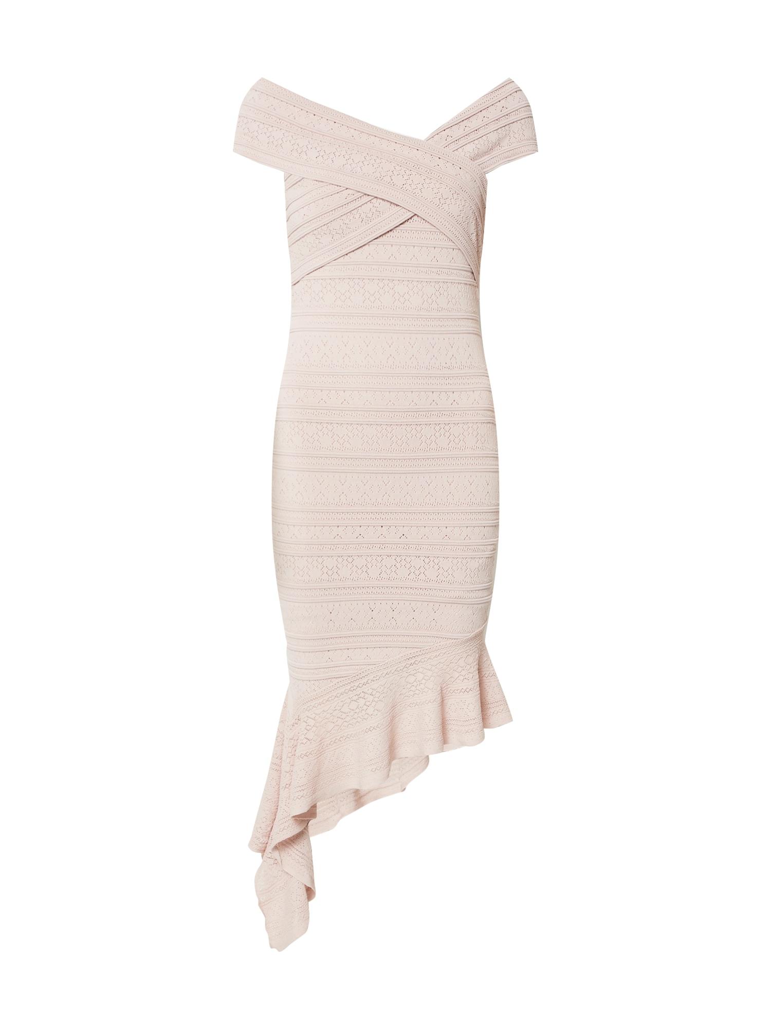 Forever New Kokteilové šaty 'Billie Stitch Knit Dress'  ružová