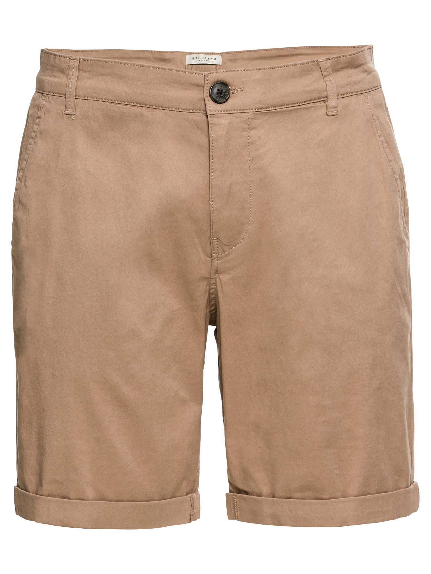 Chino kalhoty tmavě béžová SELECTED HOMME