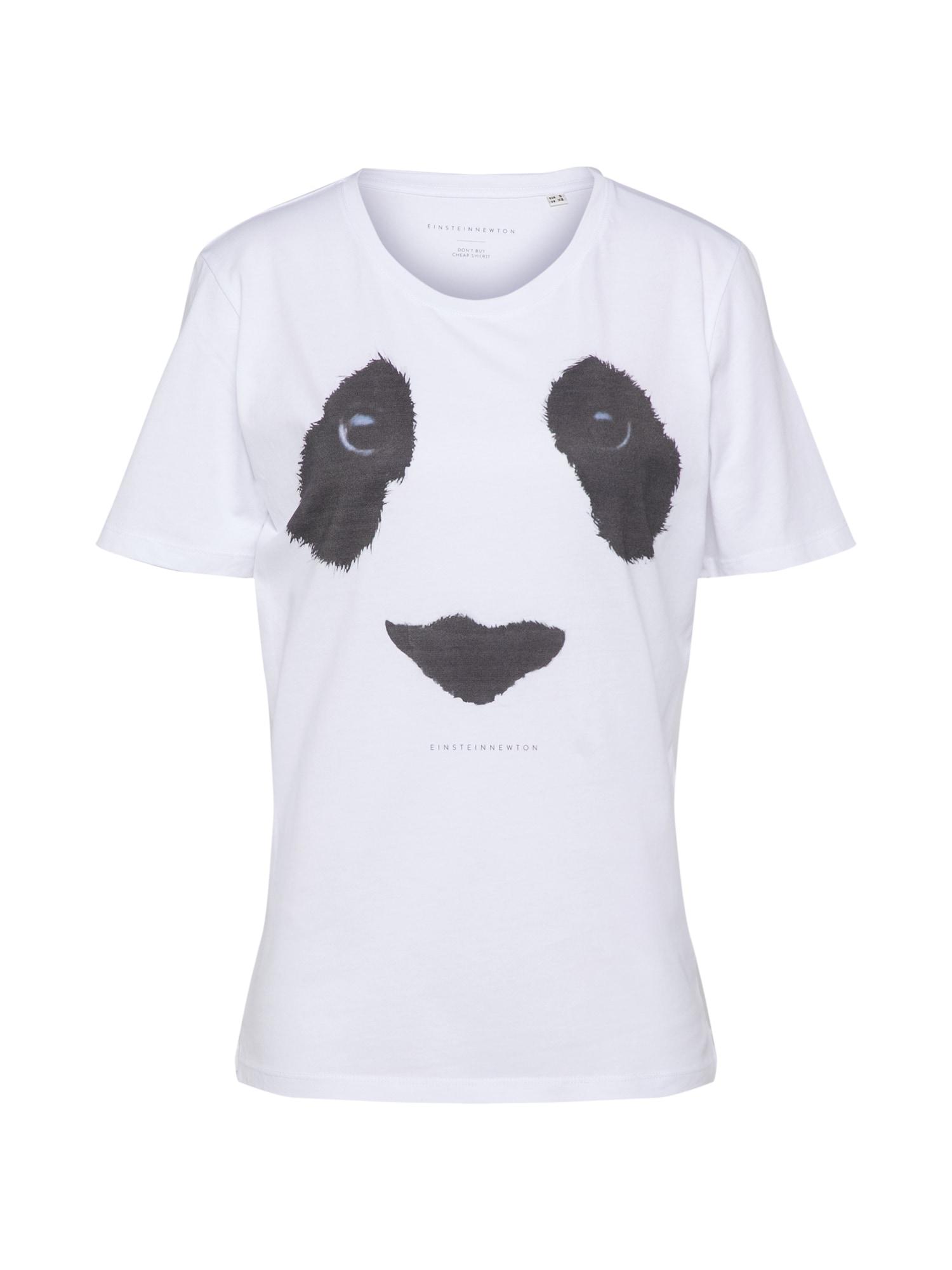 Tričko Panda Eyes Paxton tmavě šedá bílá EINSTEIN & NEWTON