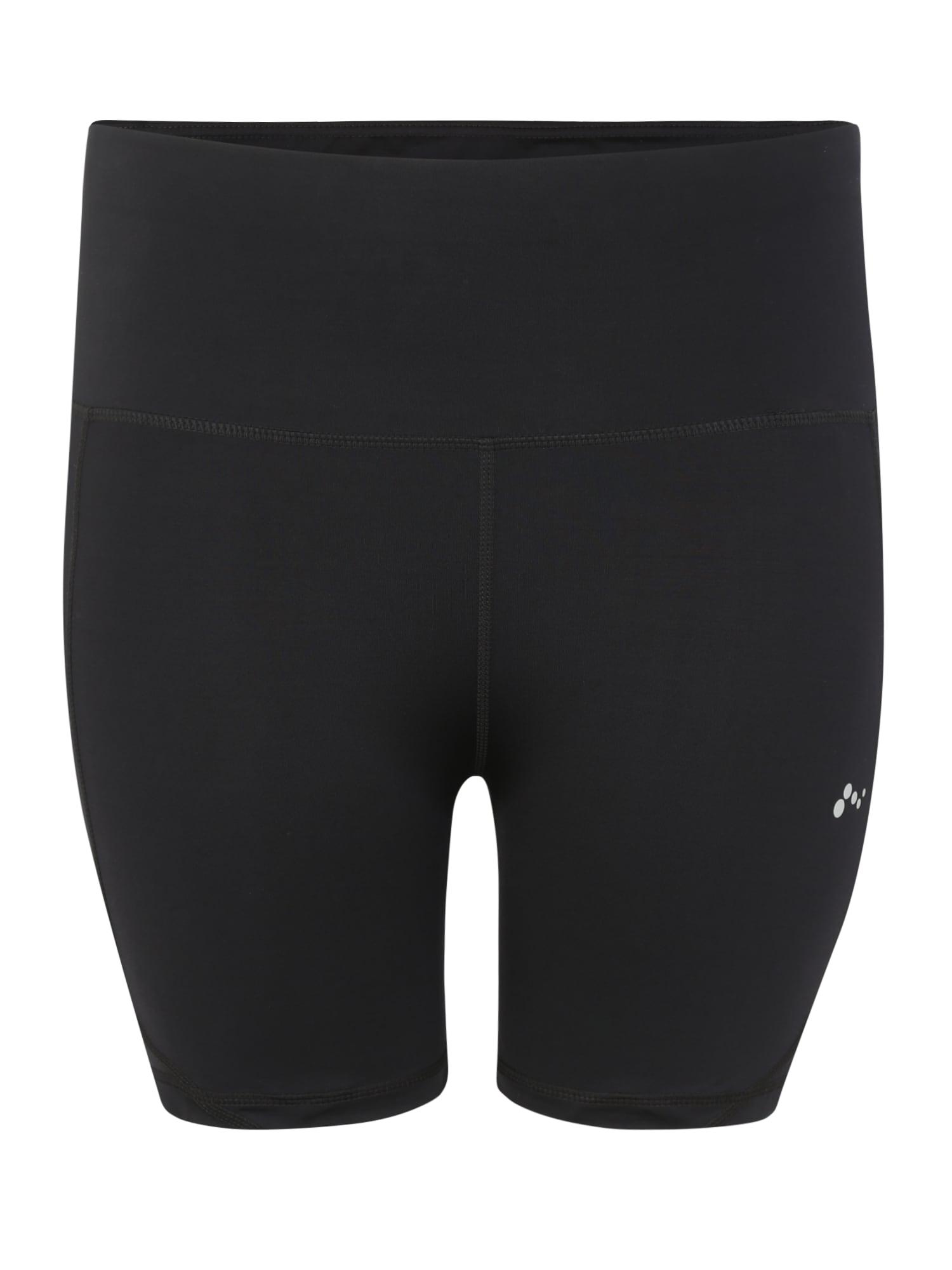 Sportovní kalhoty onpMADGE SHAPE UP TRAI SHORTS - CURVY černá Only Play Curvy
