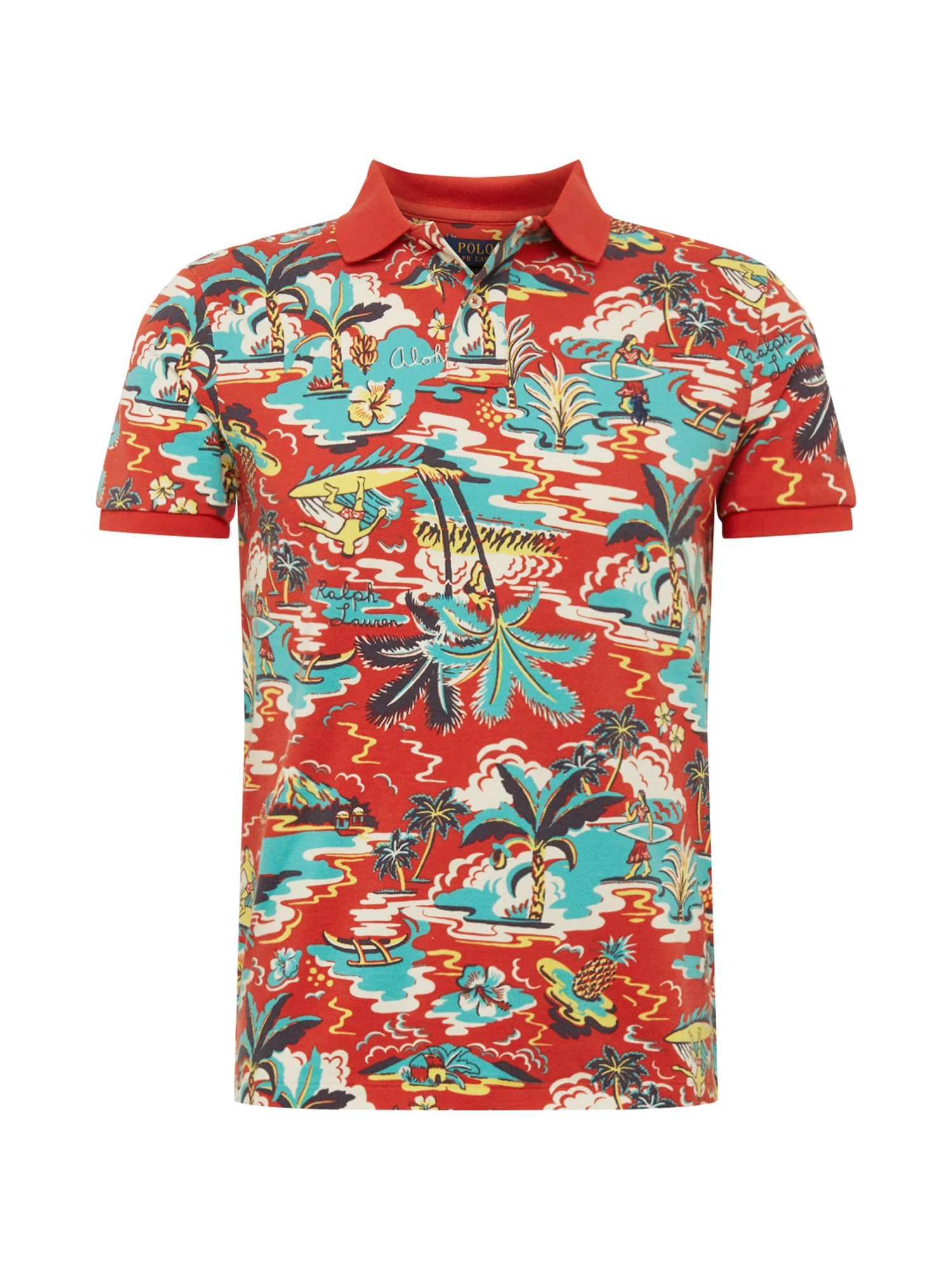 Tričko SSKCCMSL M1-SHORT SLEEVE-KNIT mix barev červená POLO RALPH LAUREN