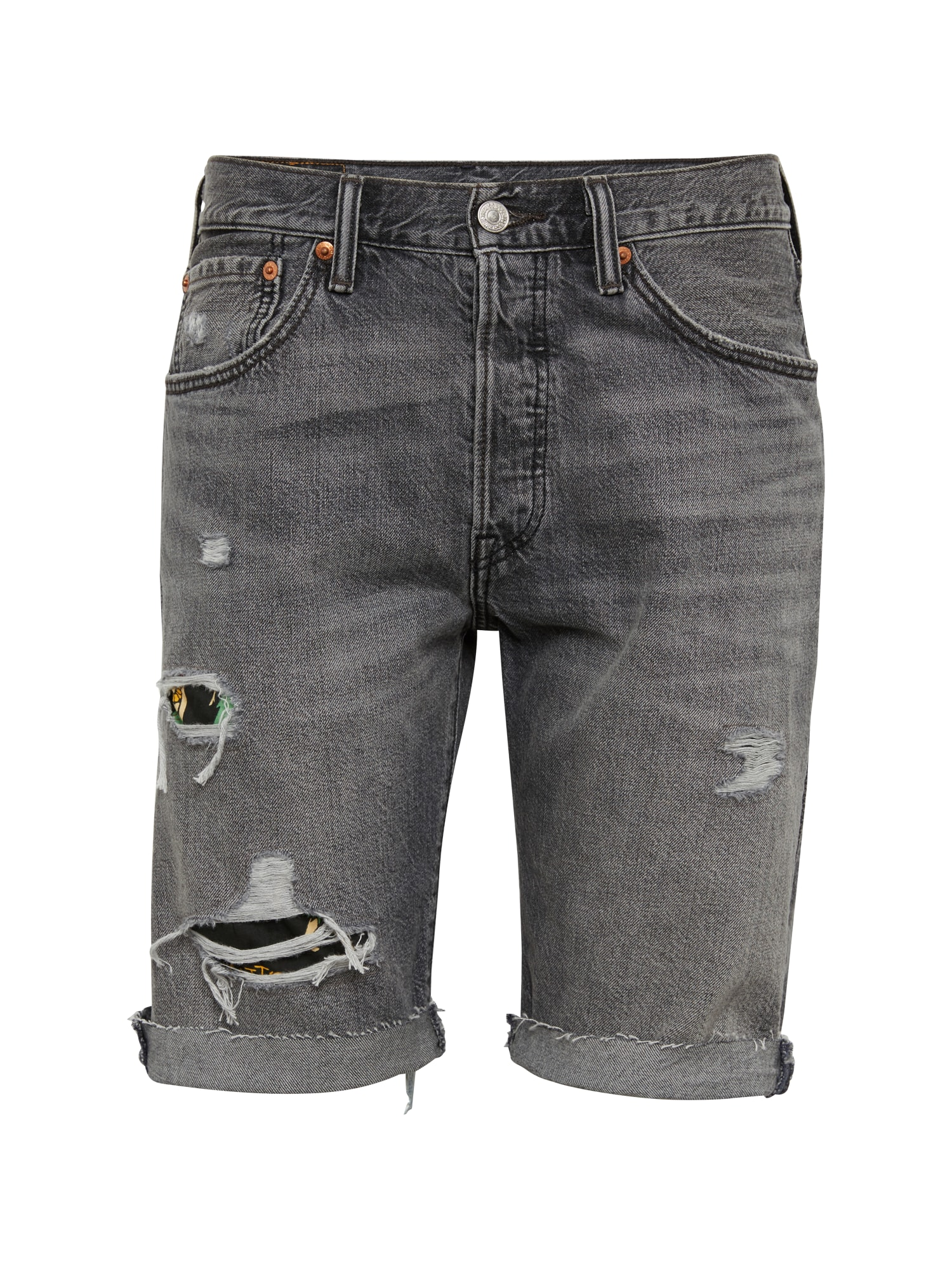 LEVI'S Heren Jeans 501® ORIG CUTOFF SHORT grey denim