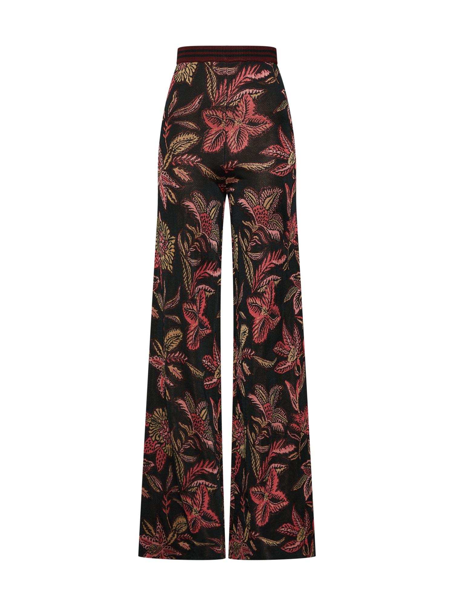 Kalhoty knitted pants mix barev růžová černá SCOTCH & SODA
