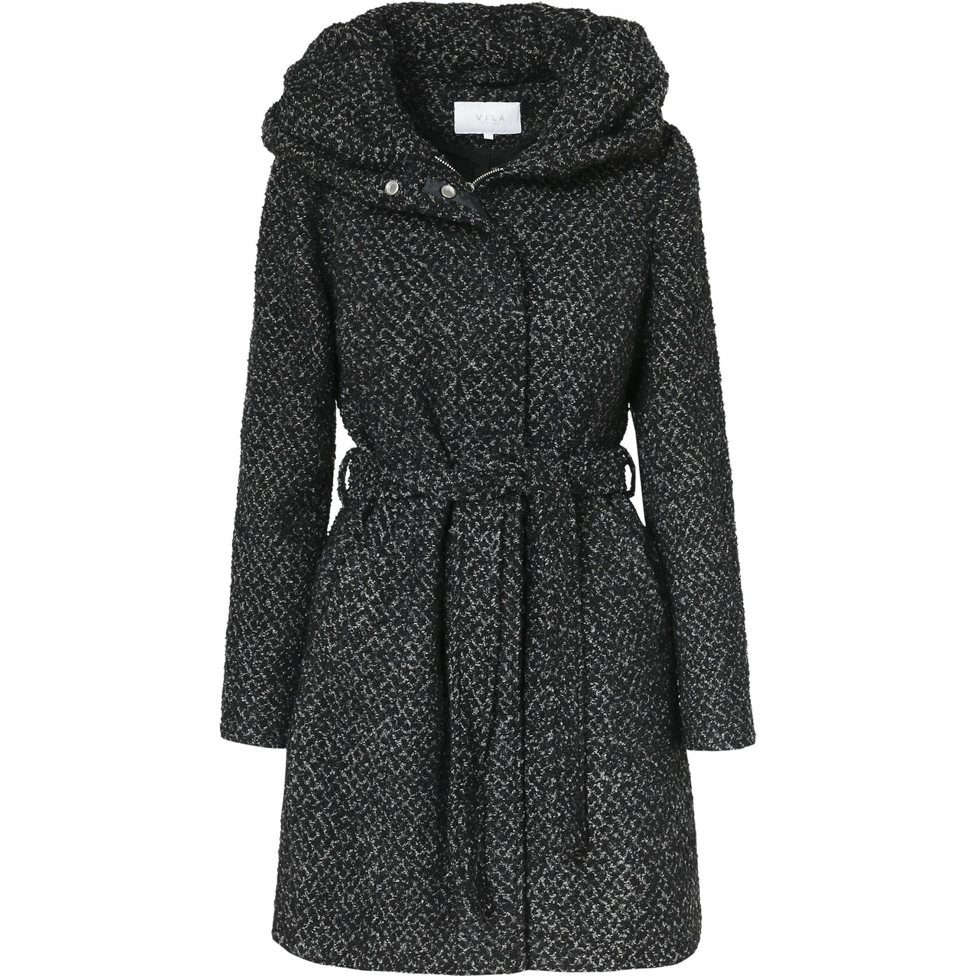 Zimní kabát Vicama černá VILA