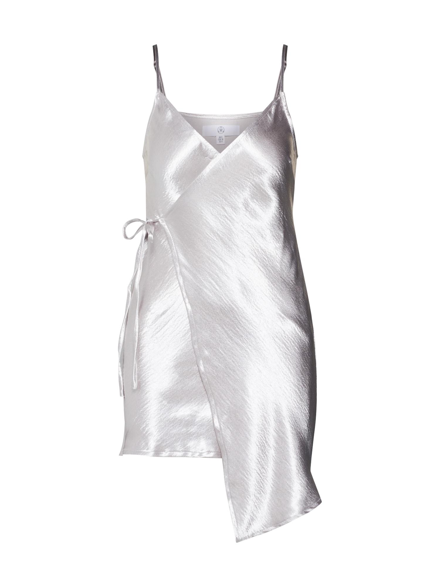 missguided - Kleid ´Asymmetric Hammered Satin Wrap Mini´