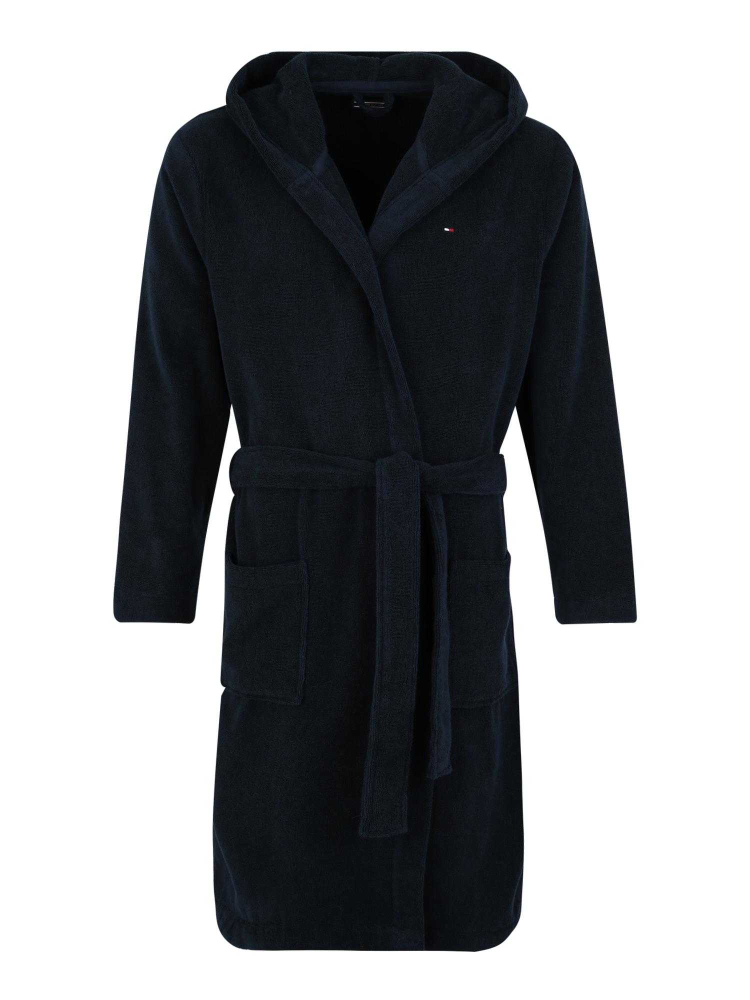 Dlouhý župan námořnická modř Tommy Hilfiger Underwear