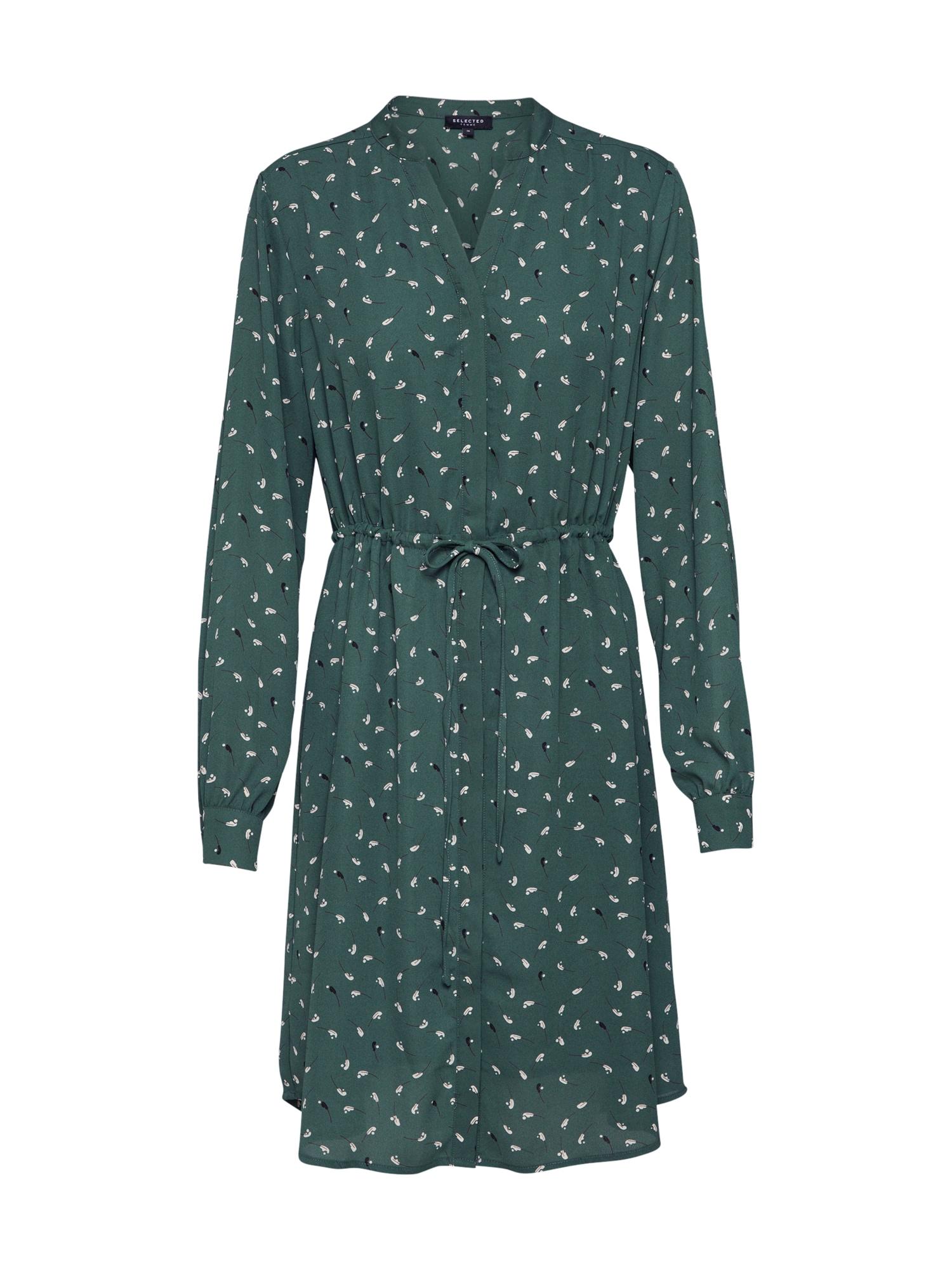 SELECTED FEMME Košilové šaty  zelená