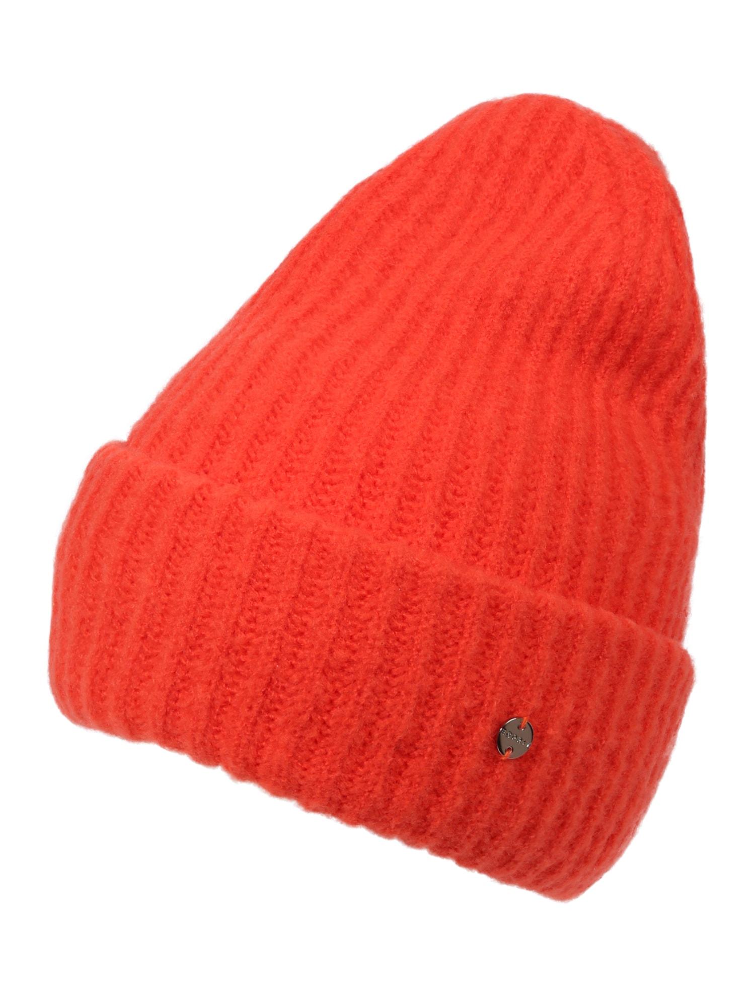 Čepice oranžově červená ESPRIT