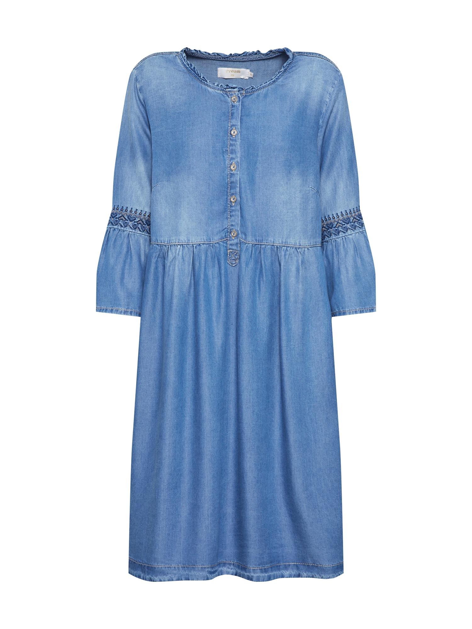 Košilové šaty Lussa modrá džínovina Cream