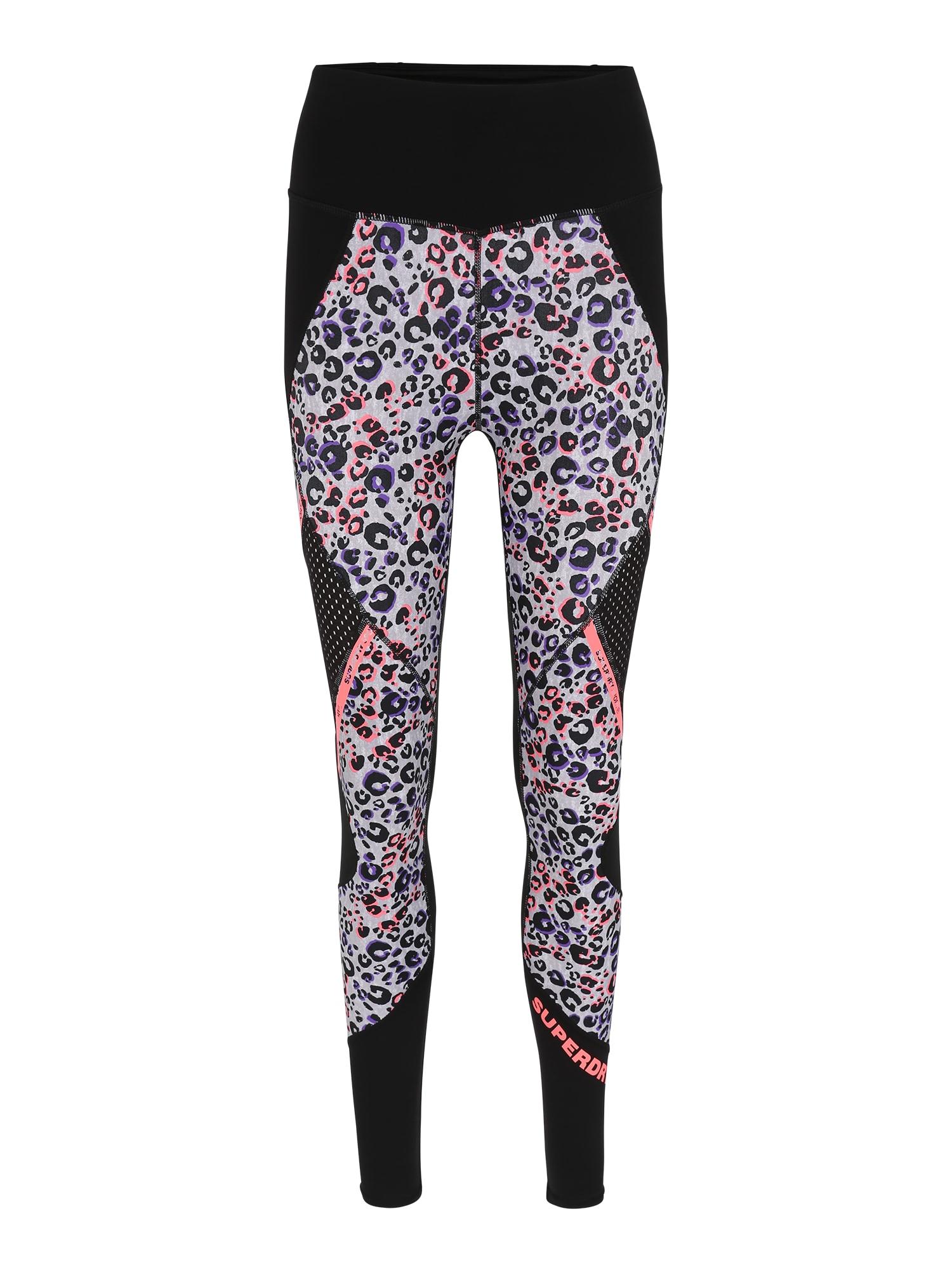 Sportovní kalhoty Active Mesh Panel šeříková korálová černá Superdry