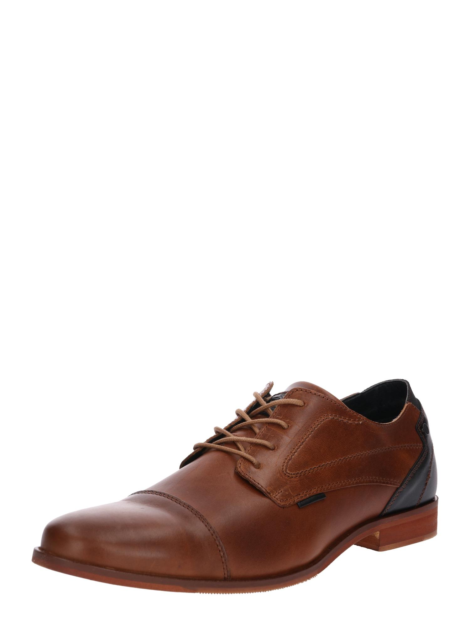 Šněrovací boty bronzová černá BULLBOXER