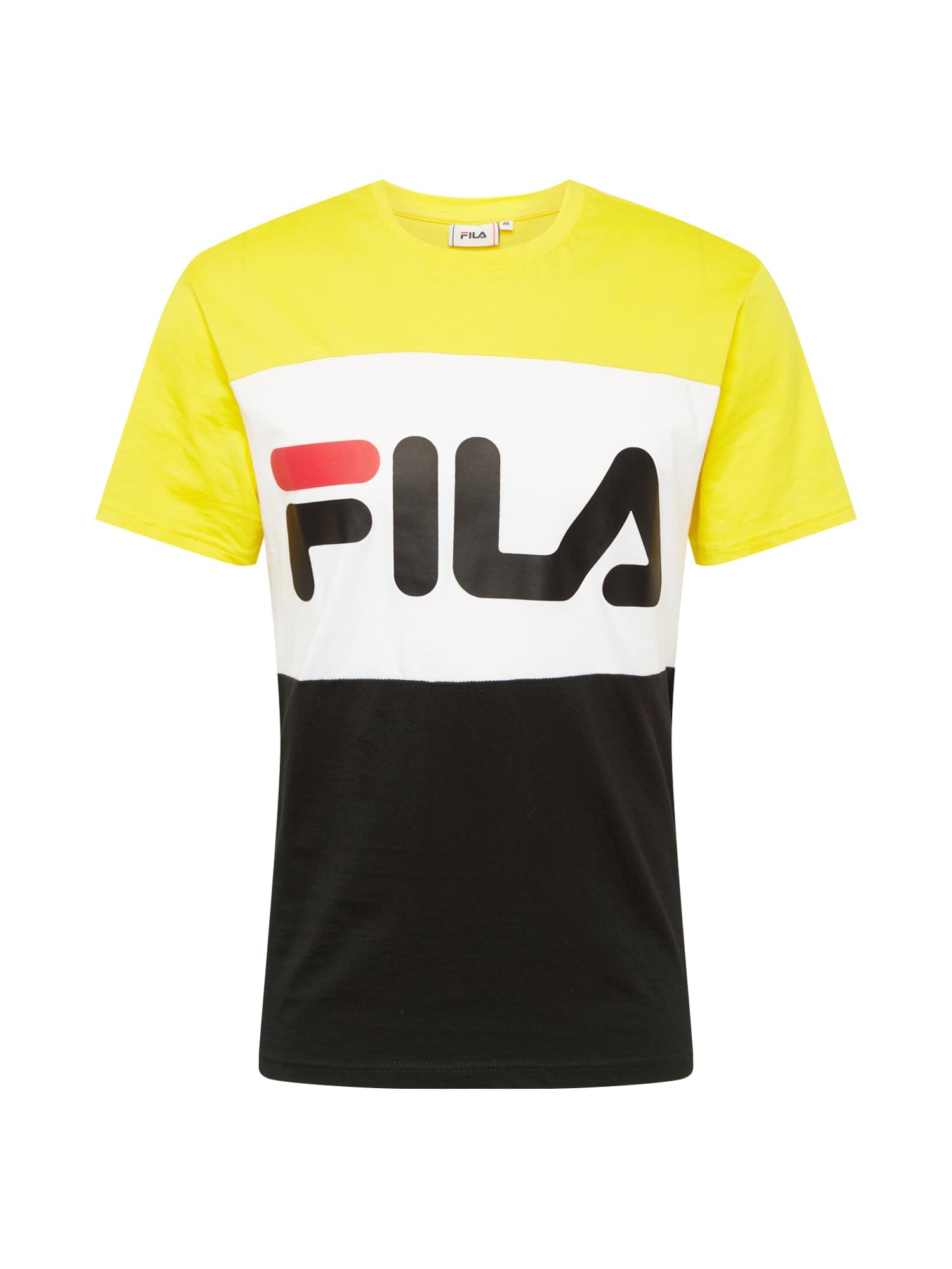 Tričko žlutá černá bílá FILA