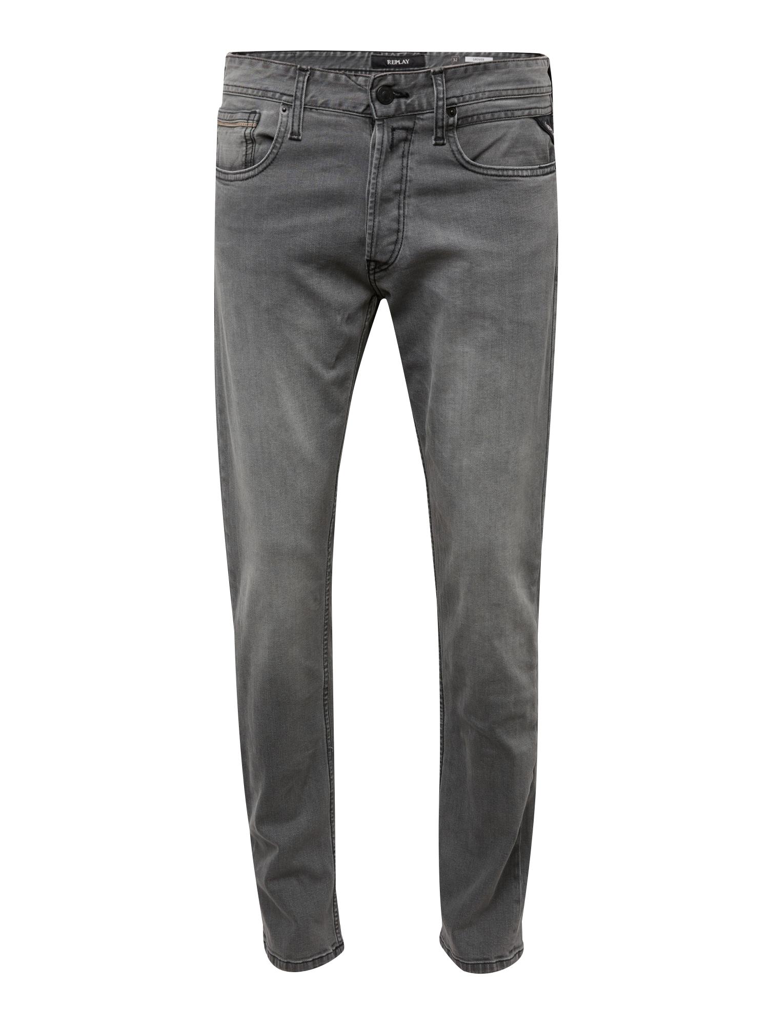 REPLAY Heren Jeans Grover grey denim