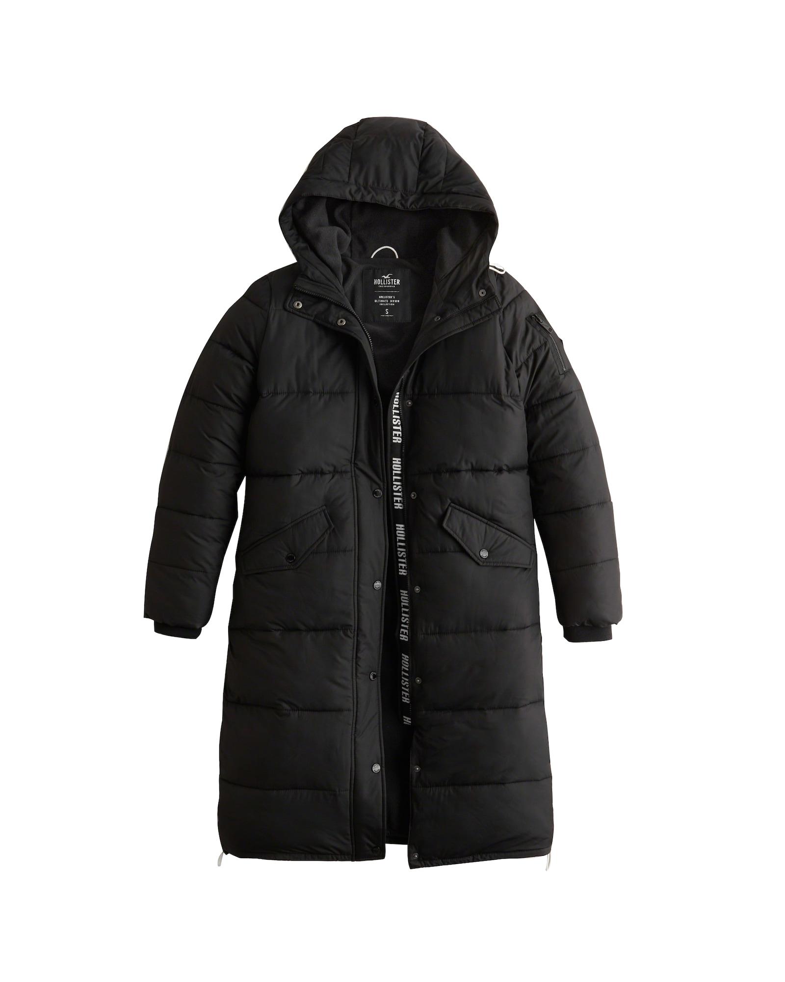 HOLLISTER Zimní kabát 'XM18-DOWN PUFFER PARKA'  černá