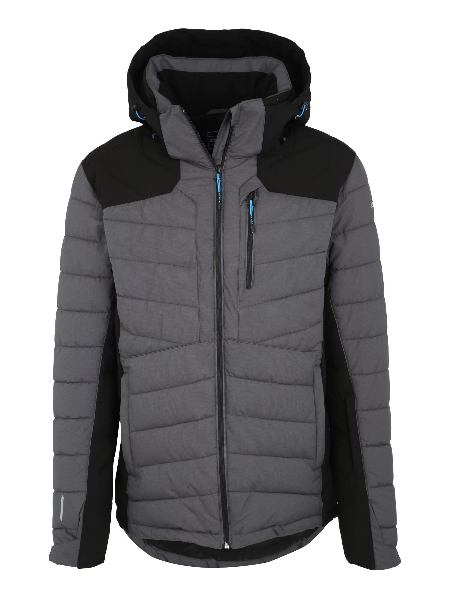 Outdoorová bunda KELSON tmavě šedá černá ICEPEAK