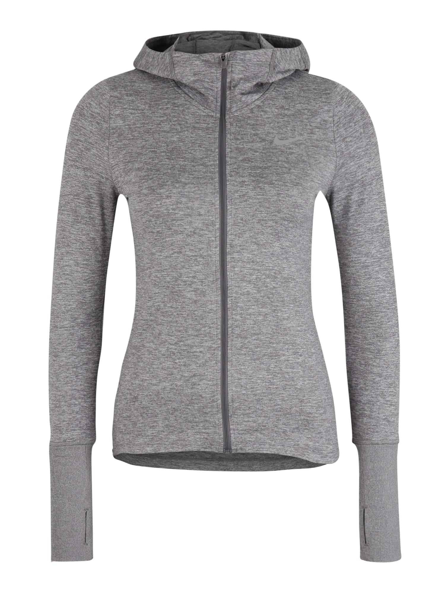 NIKE Športová mikina 'Nike Element'  sivá