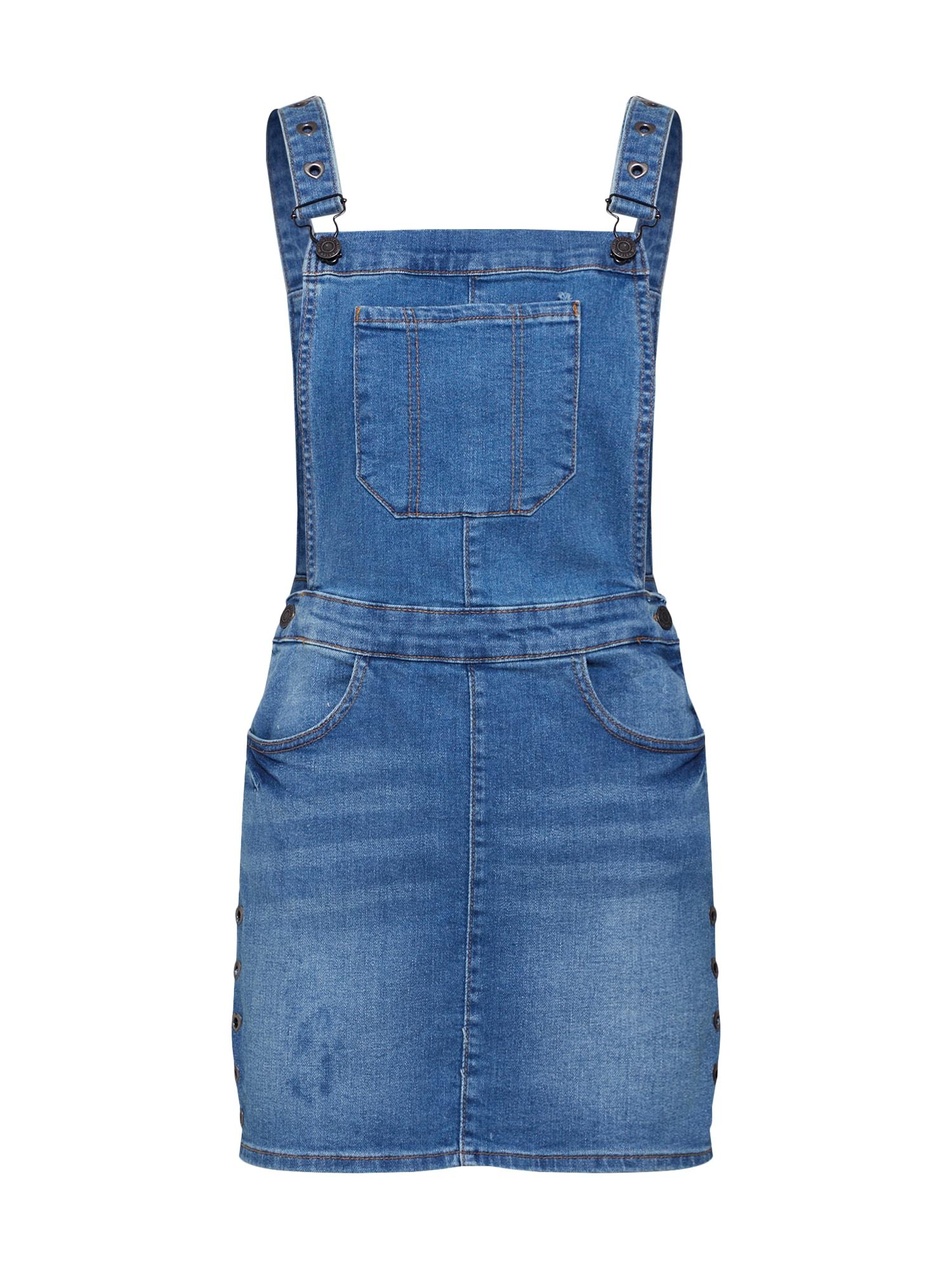 Laclová sukně IRIS DUNGAREE modrá džínovina Noisy May