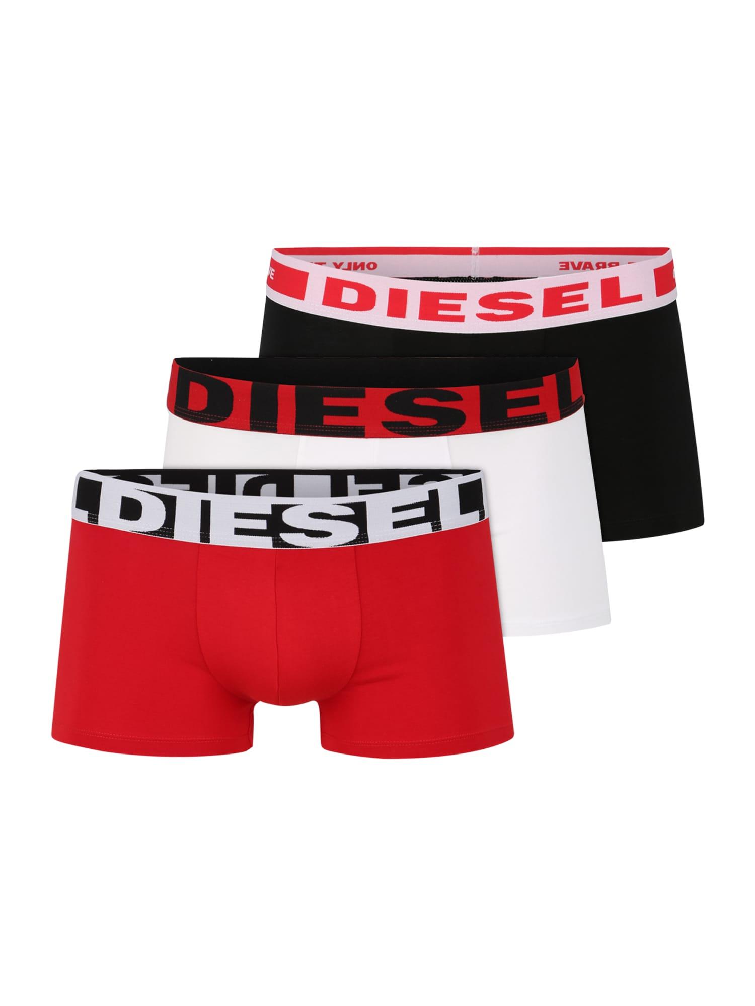 DIESEL Boxerky  biela / červené / čierna