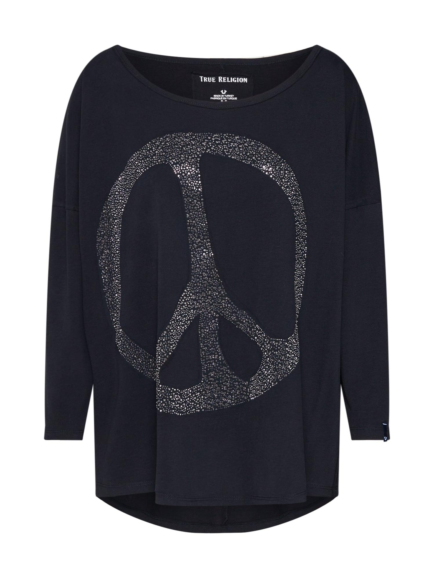 Tričko LS PEACE černá True Religion