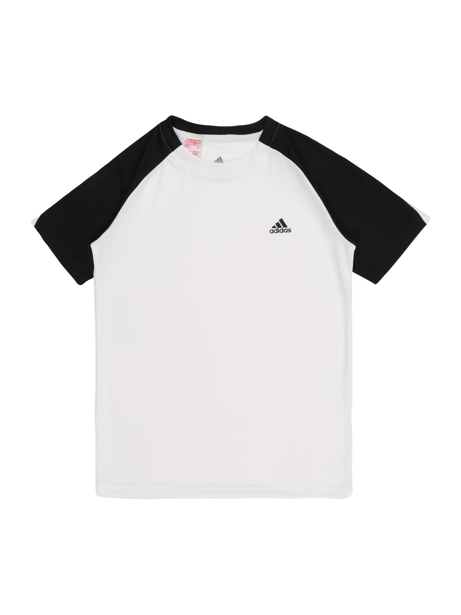 Funkční tričko B CLUB TEE černá bílá ADIDAS PERFORMANCE