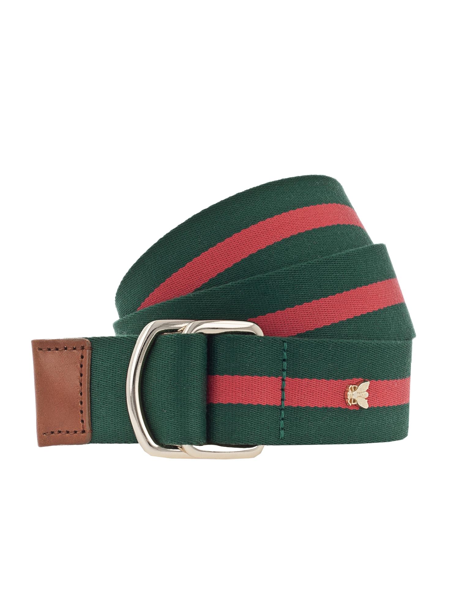 Opasek Streifen 35cm zelená červená VANZETTI