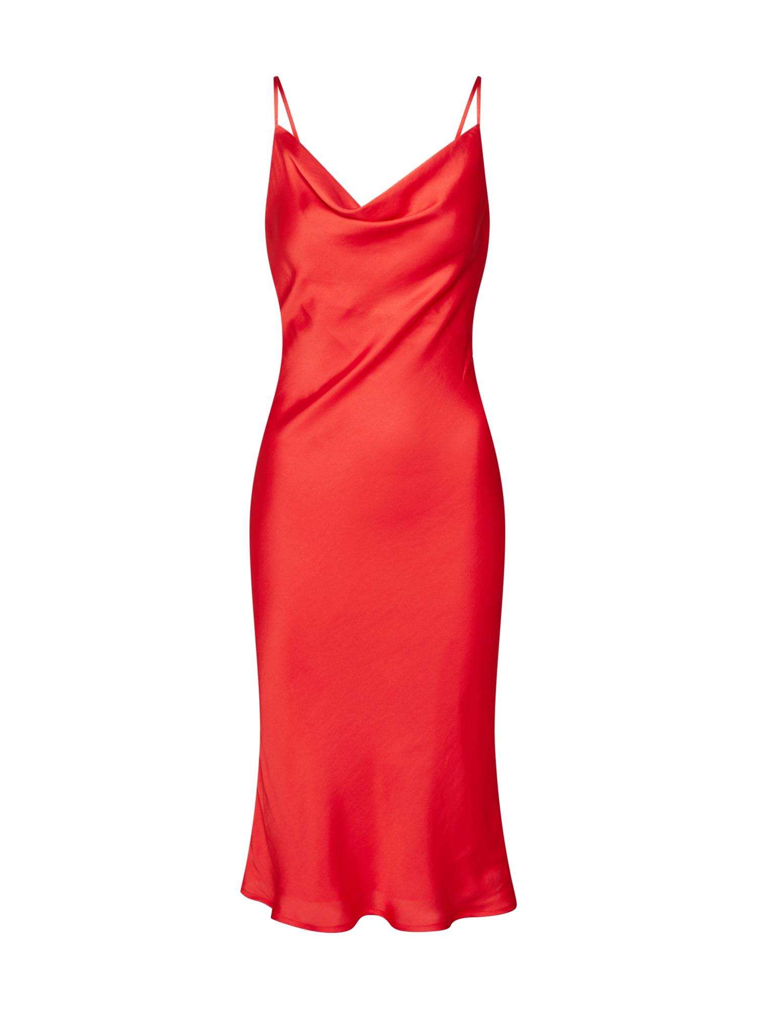 Šaty SLIP DRESS  červená Bardot