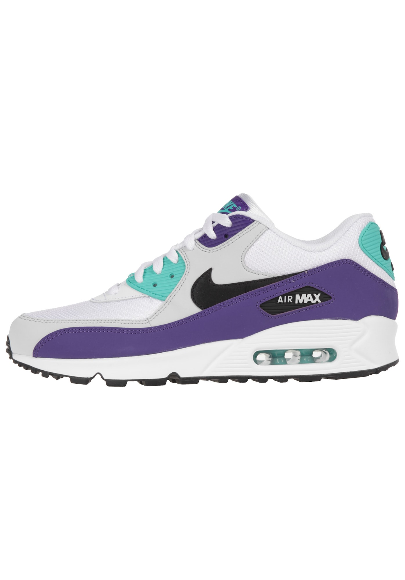 Nike Sportswear, Heren Sneakers laag 'Air Max 90 Essential', turquoise / mauve / zwart / wit