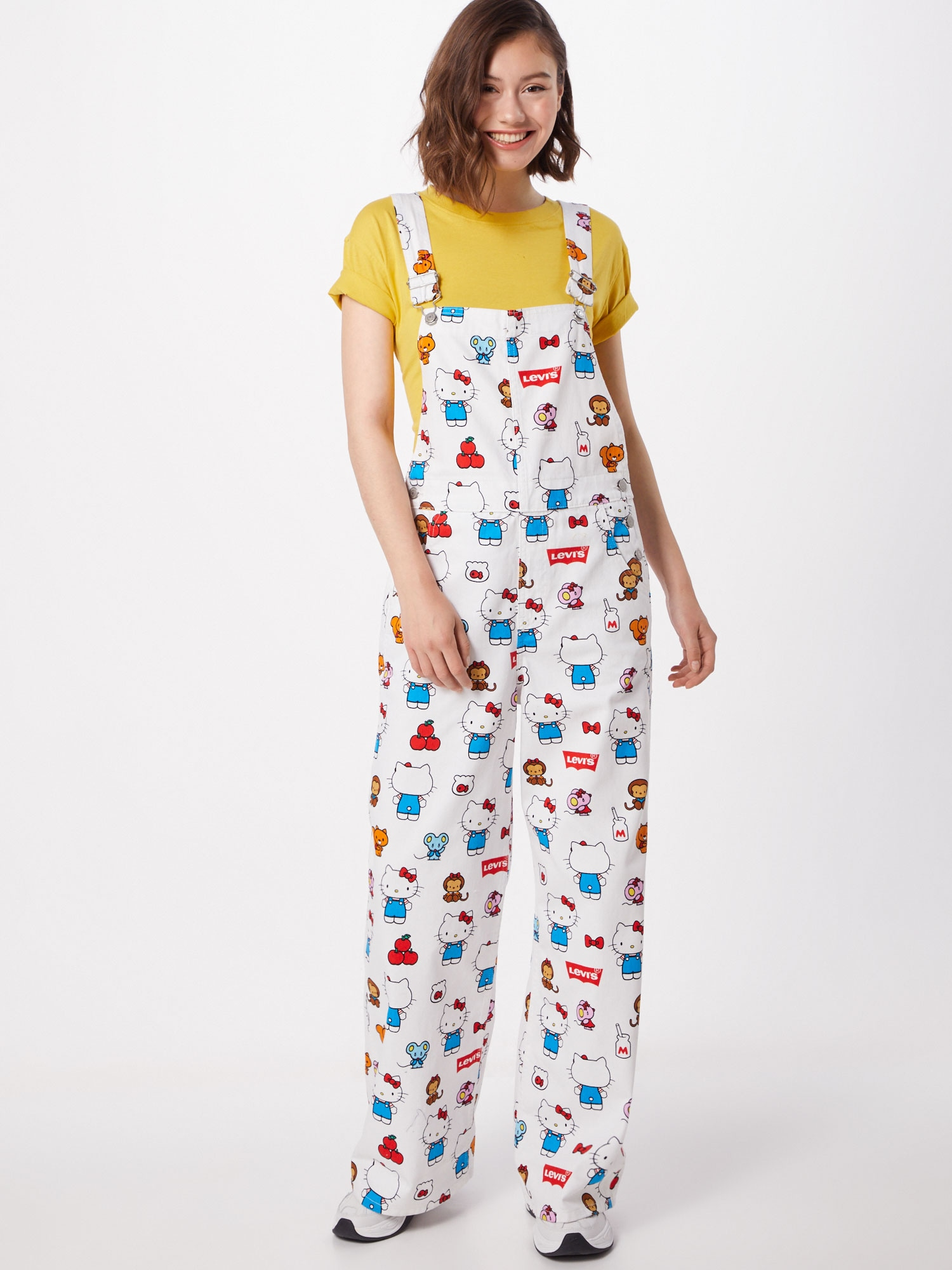 levi's - Latzhose 'HK Baggy Overall Kitty White'