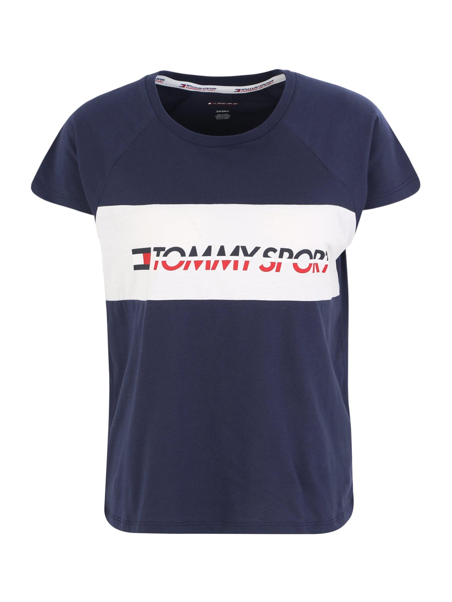 Tommy Sport Funkčné tričko 'BLOCKED'  námornícka modrá