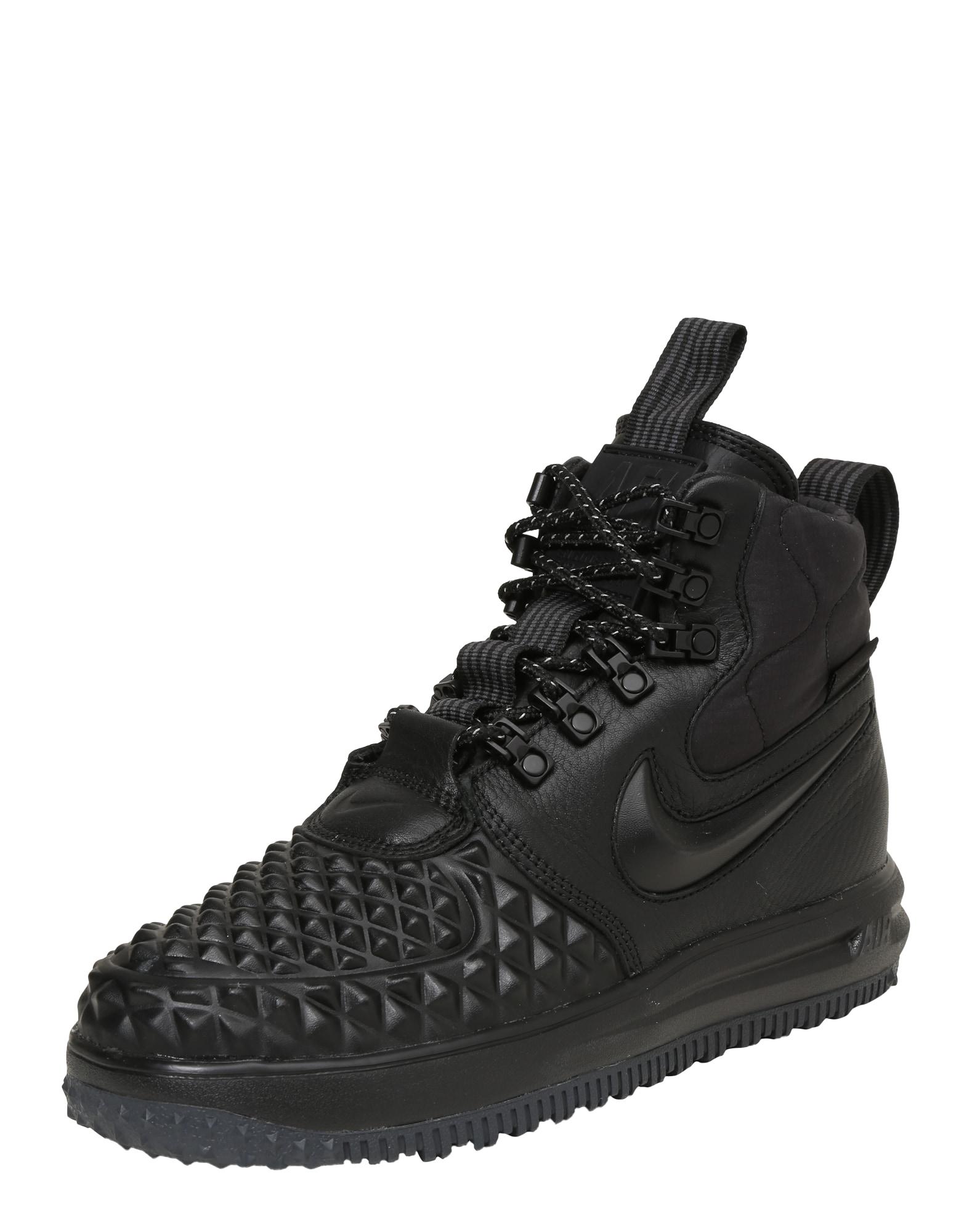 Kotníkové tenisky Lunar Force 1 Duckboot černá Nike Sportswear