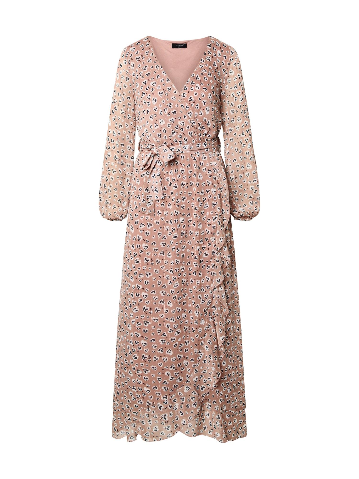 SISTERS POINT Večerné šaty 'GUSH-LS2'  rosé