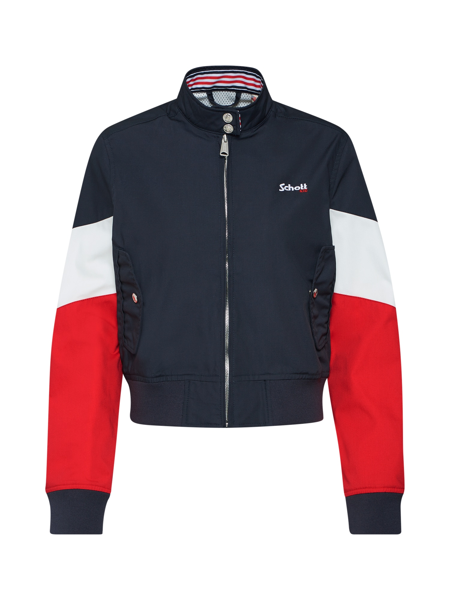 Přechodná bunda JKT Cabl 90W námořnická modř červená bílá Schott NYC