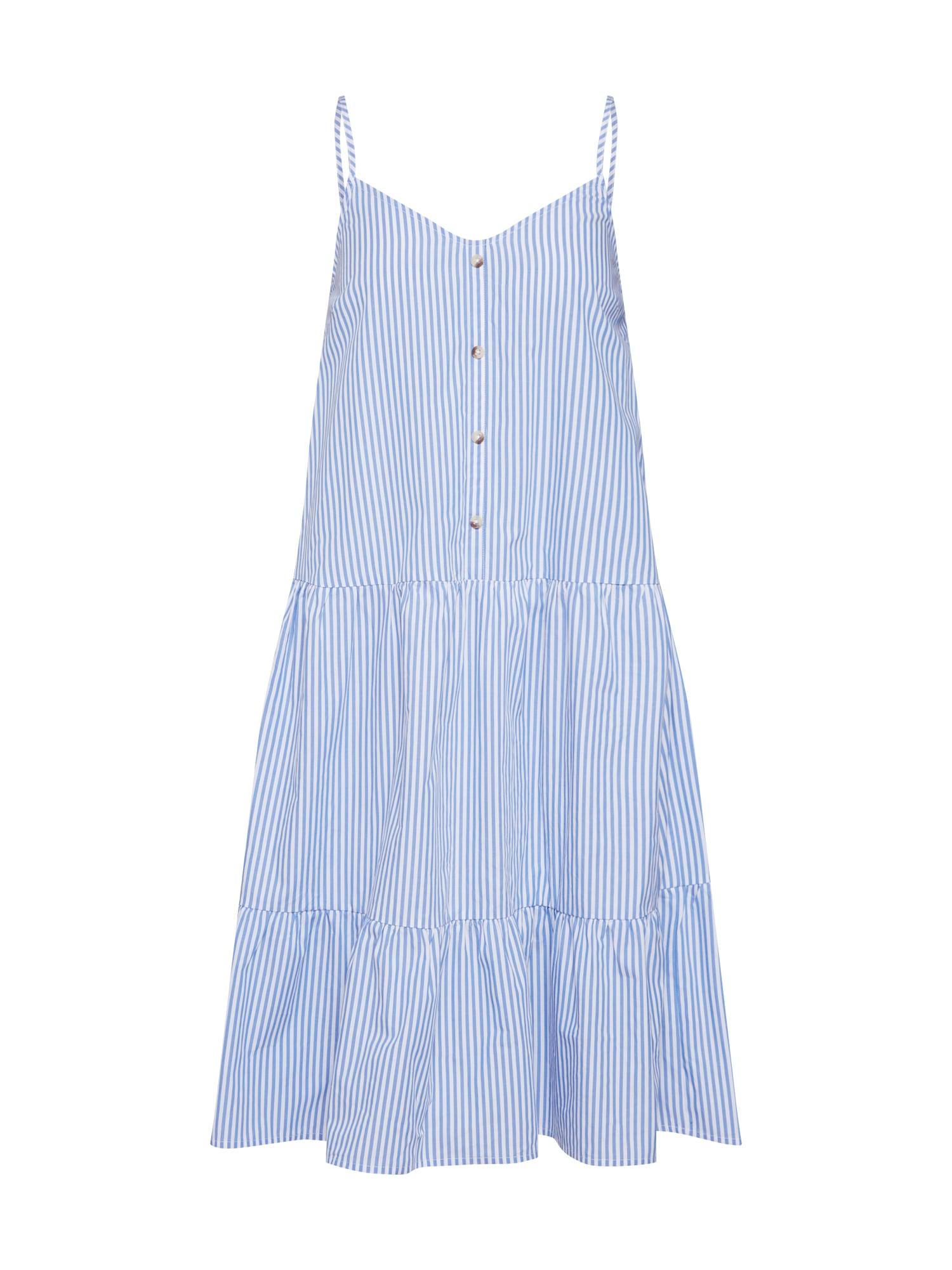 Košilové šaty ADEL-ST.DR světlemodrá bílá SISTERS POINT
