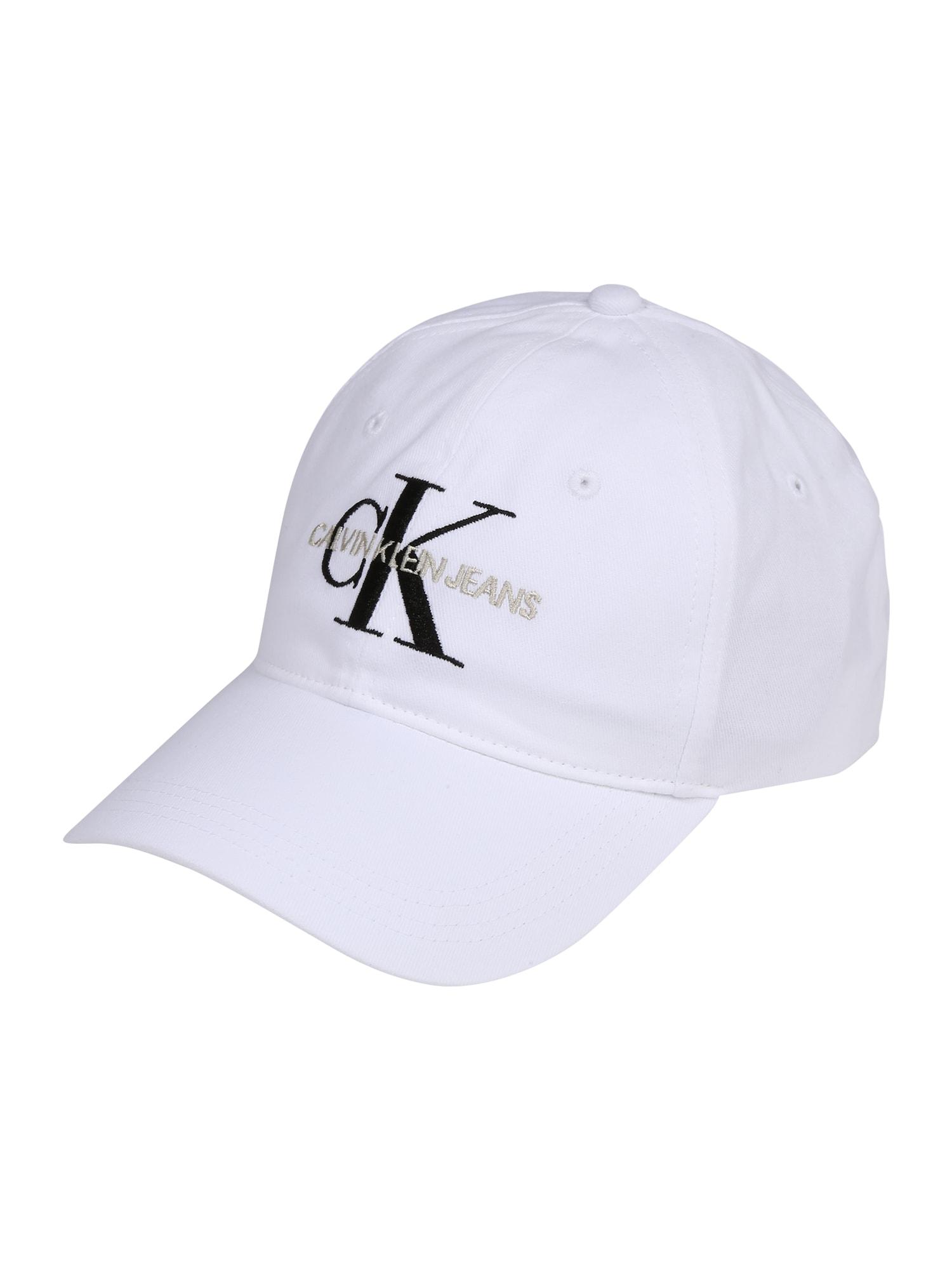 Kšiltovka J Monogram Cap M černá bílá Calvin Klein Jeans