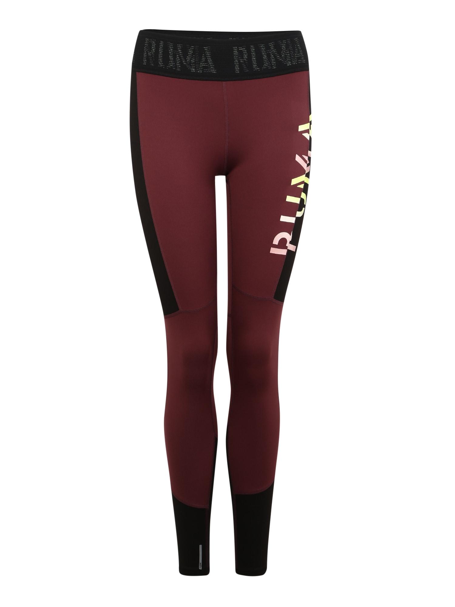 Sportovní kalhoty vínově červená PUMA