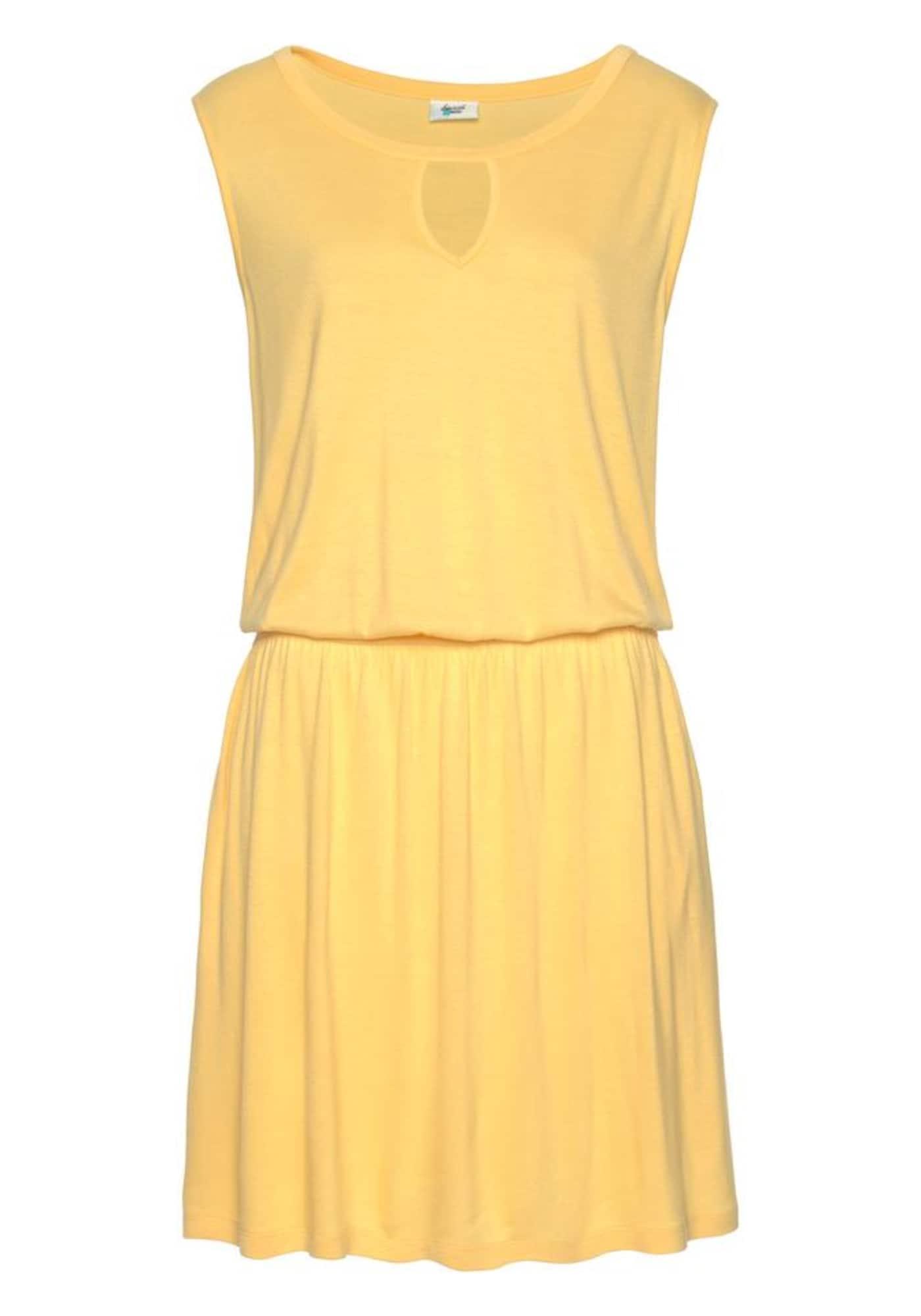 BEACH TIME Plážové šaty  žlutá