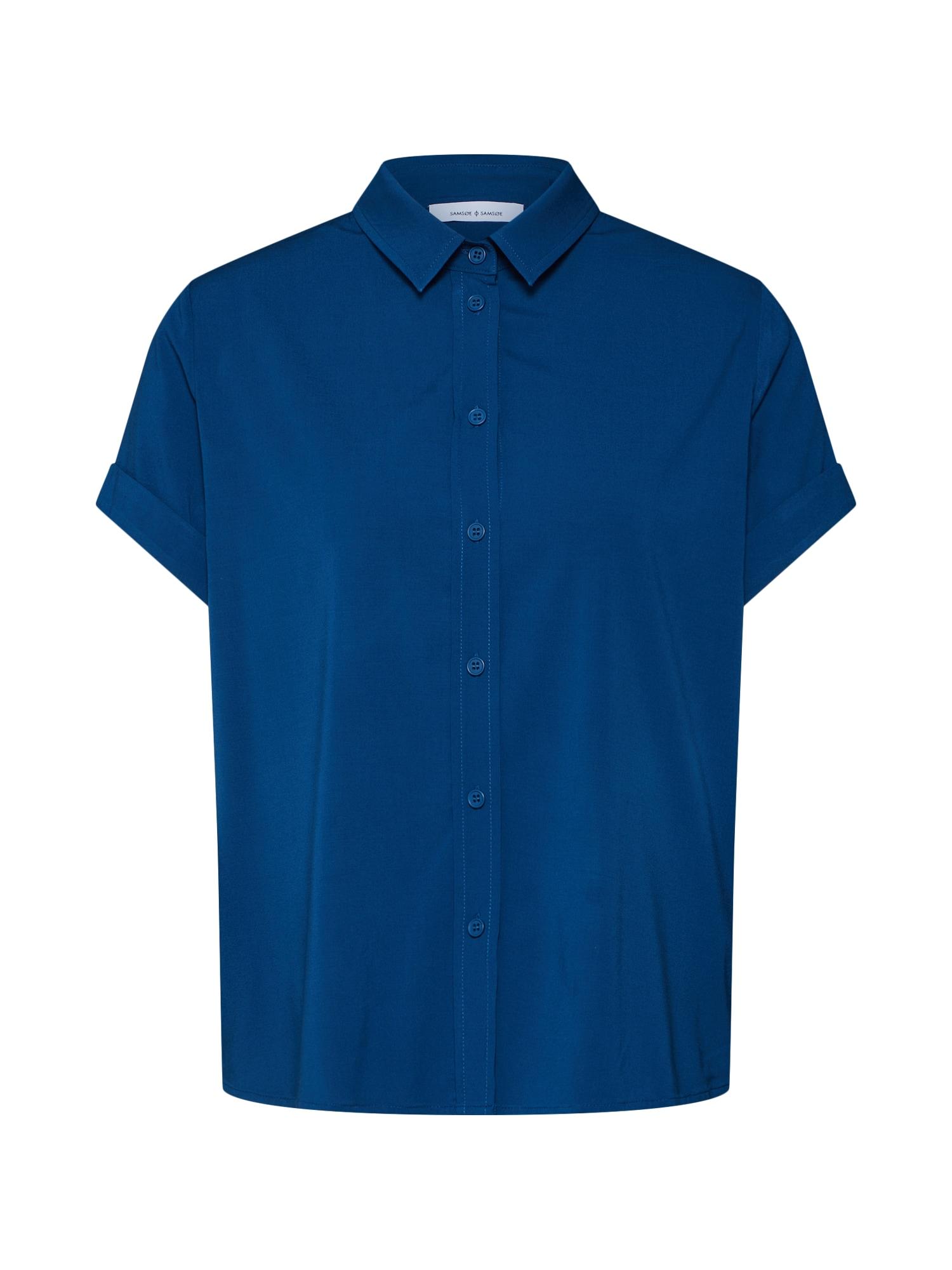 Halenka Majan ss shirt 9942 modrá Samsoe & Samsoe
