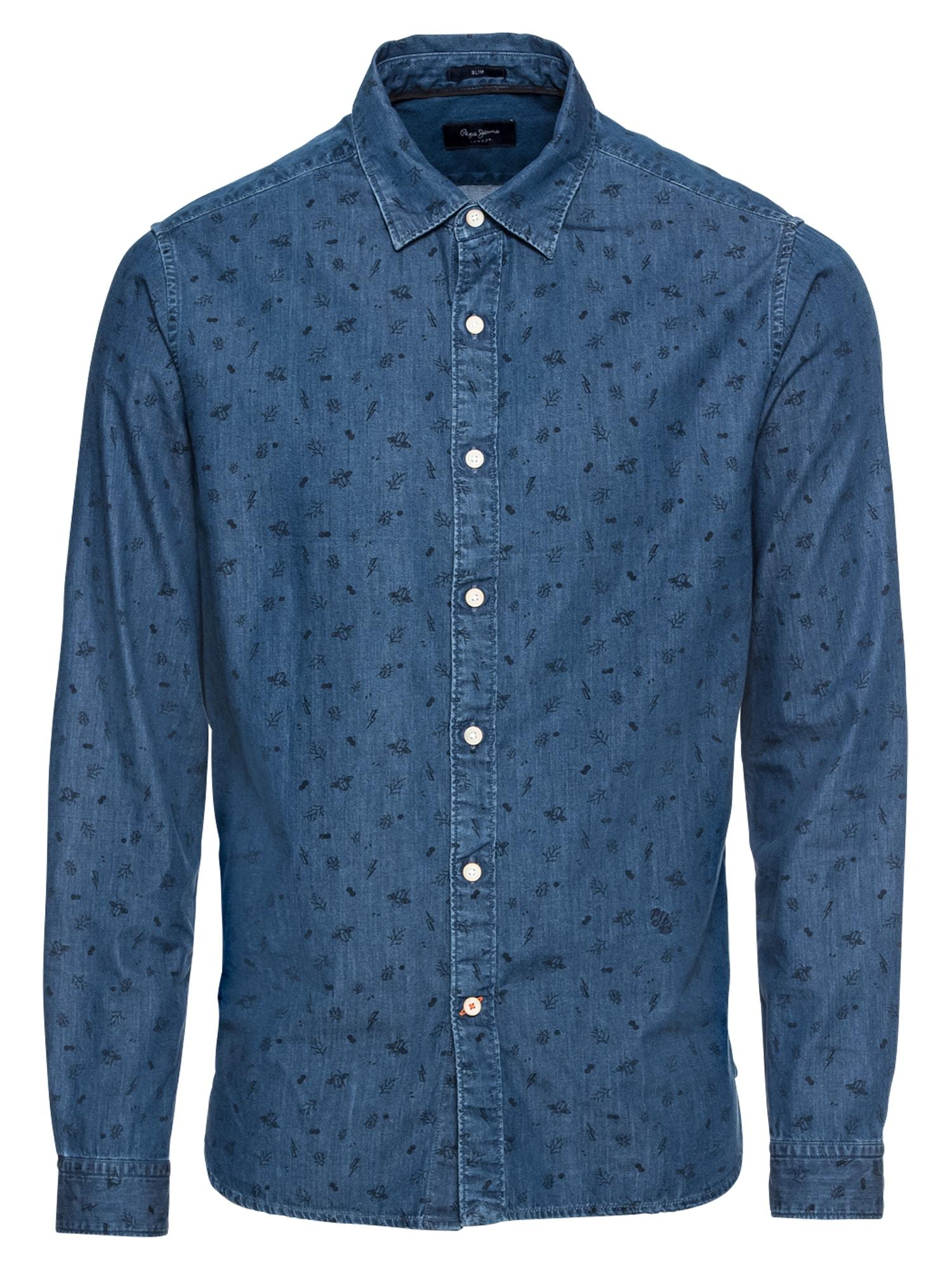 Košile HAROLD modrá džínovina Pepe Jeans