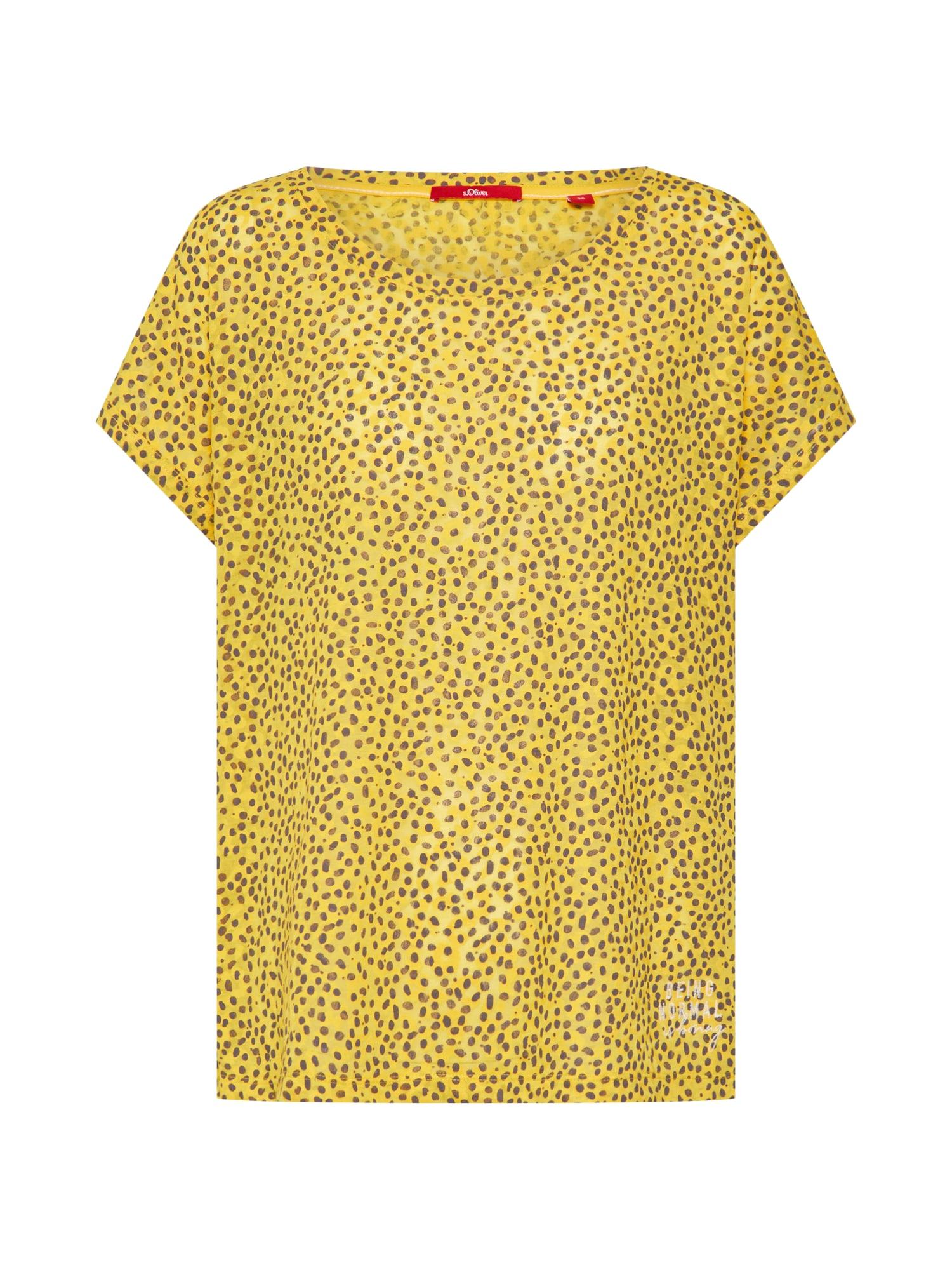 Tričko žlutá černá S.Oliver RED LABEL