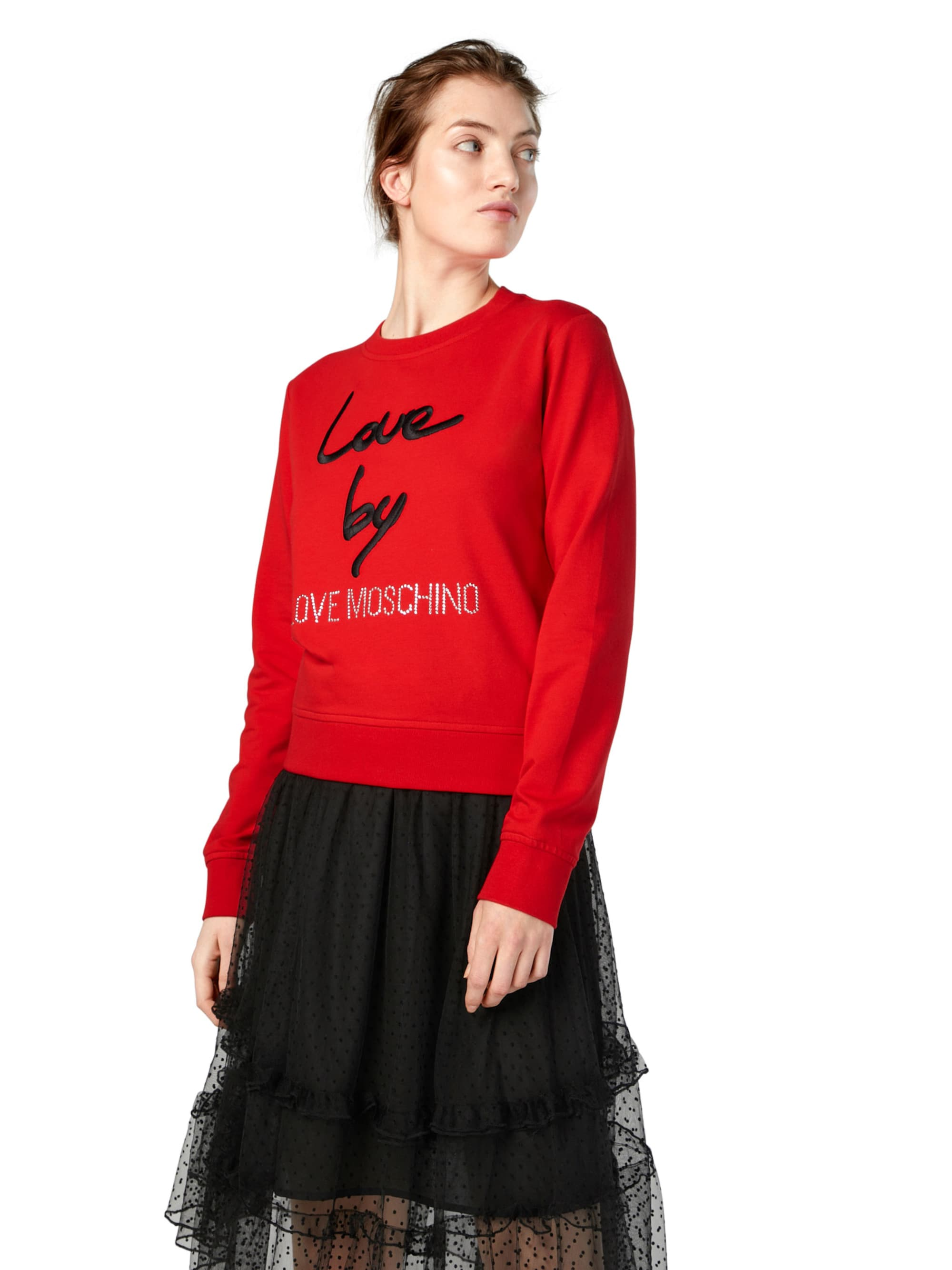 Love Moschino Bluzka sportowa  czerwony / czarny