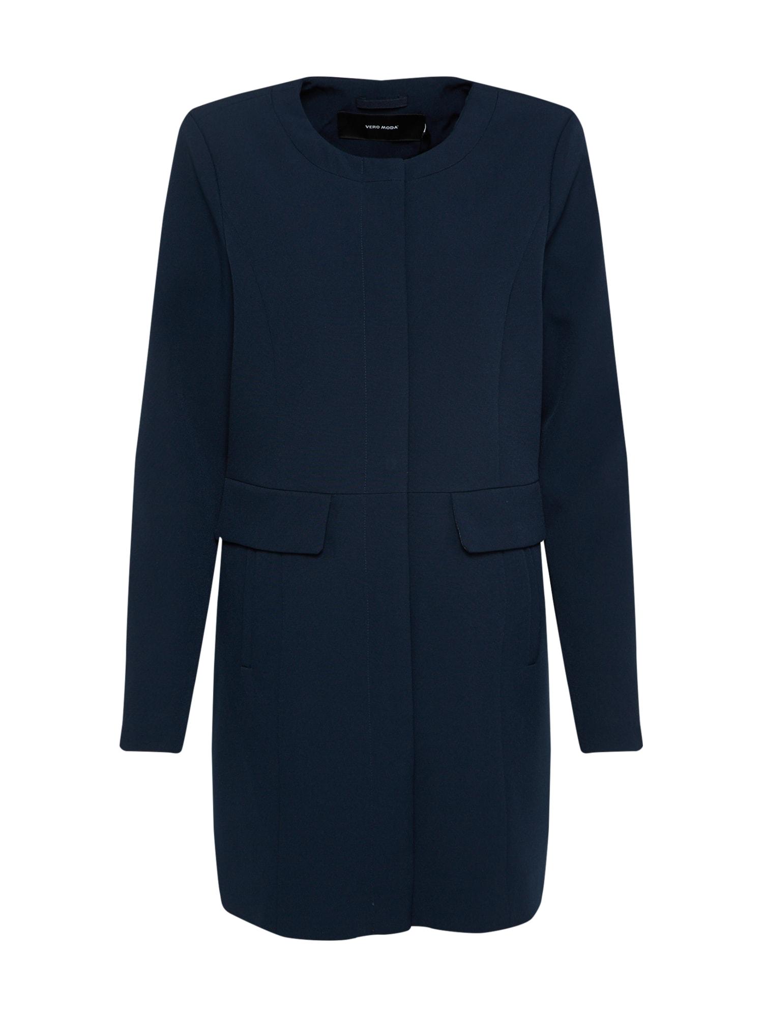 Přechodný kabát VMCANNES JOYCE tmavě modrá VERO MODA