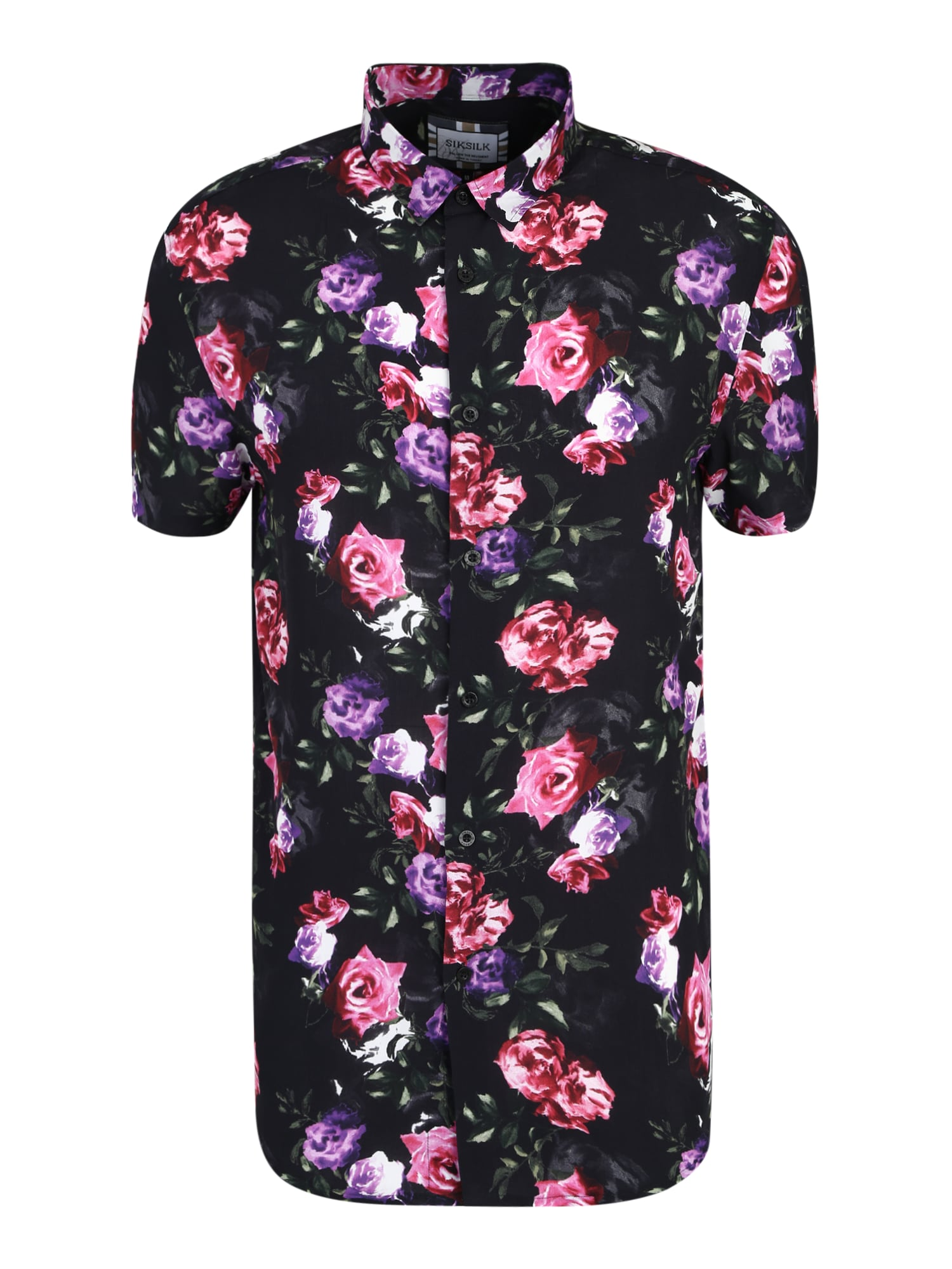 Košile fialová růžová černá SikSilk