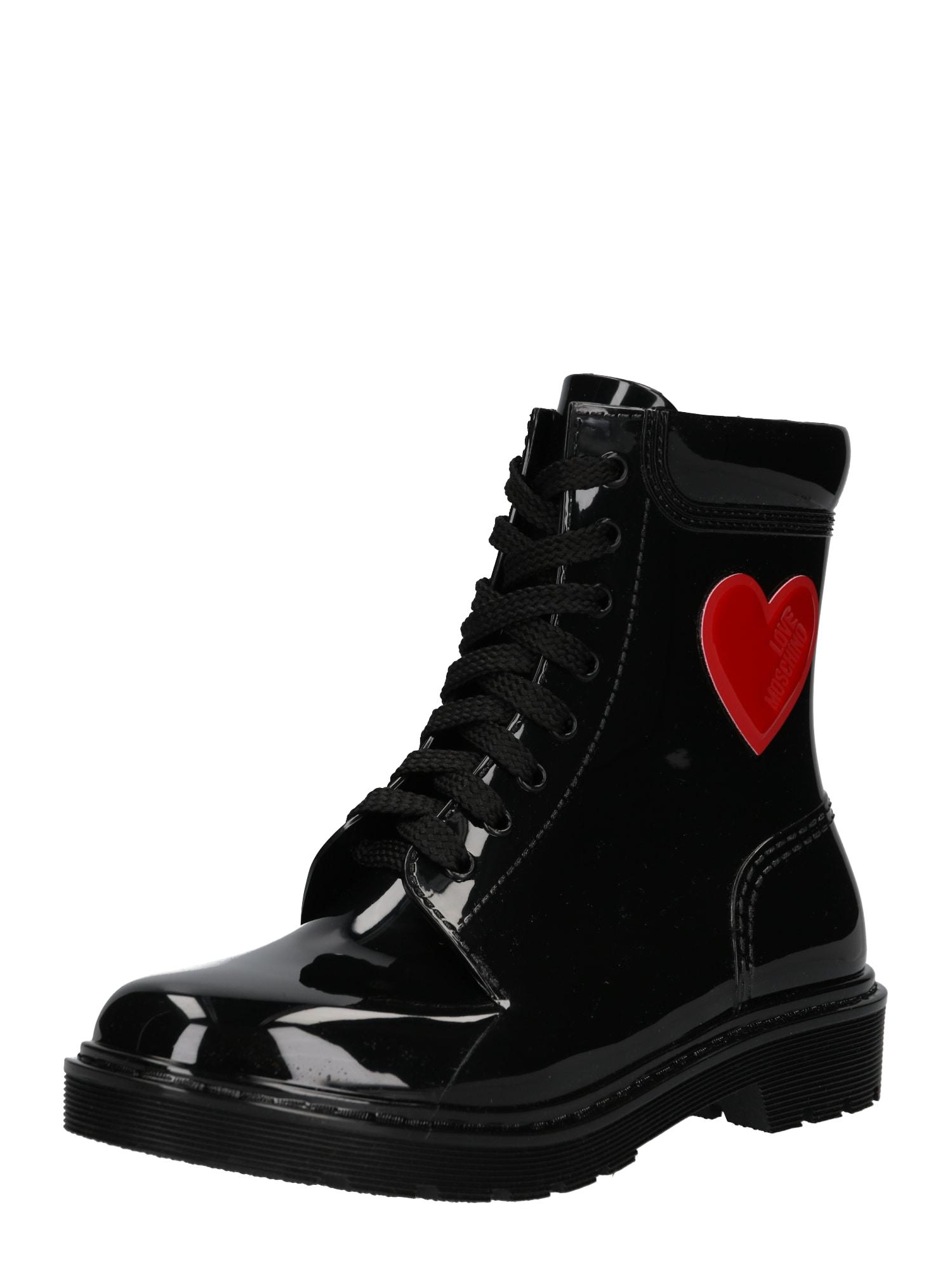 Šněrovací boty RAIN LOVE černá Love Moschino